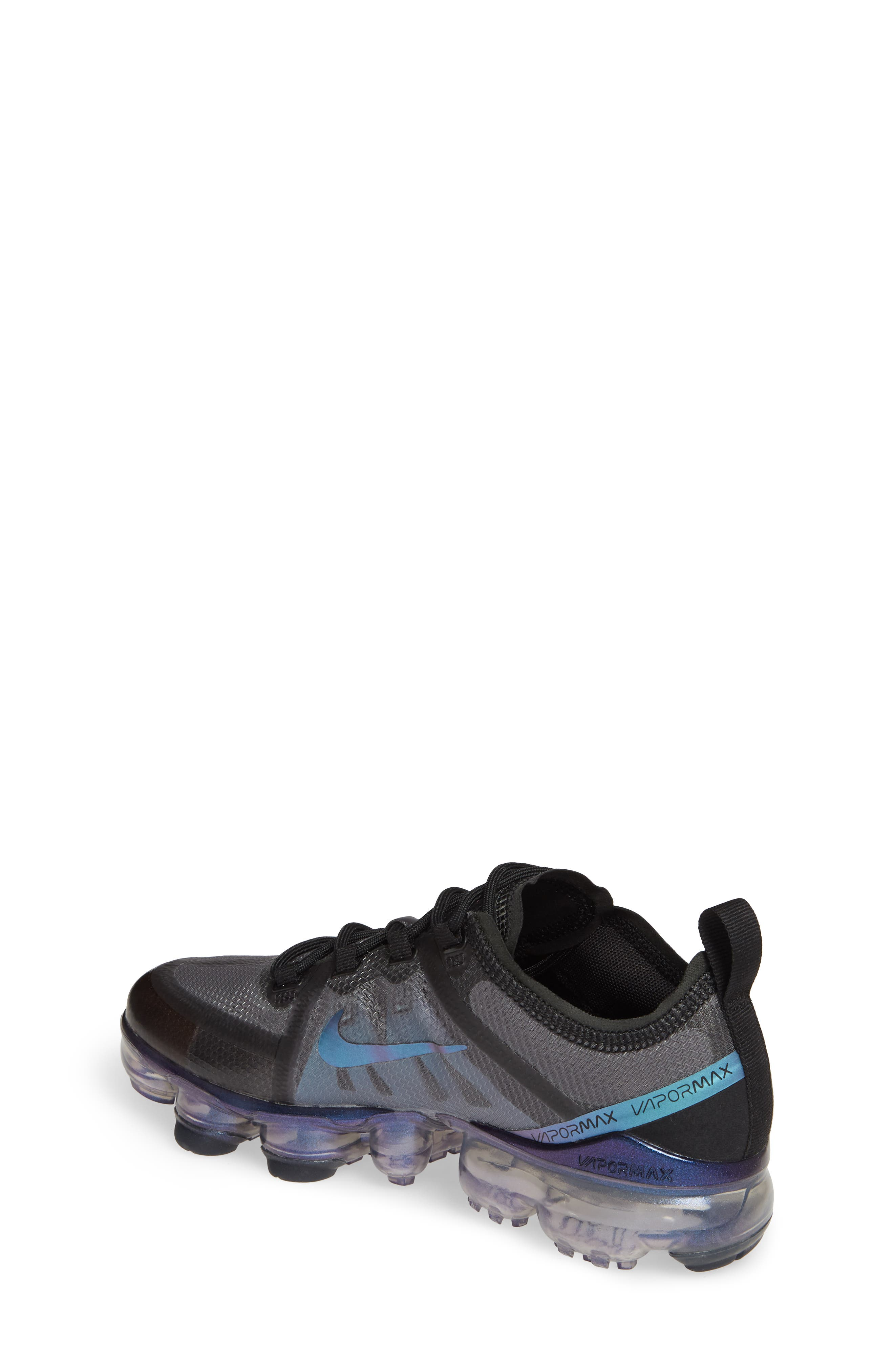 NIKE, Air VaporMax 2019 Running Shoe, Alternate thumbnail 2, color, BLACK/ FUCHSIA-ANTHRACITE
