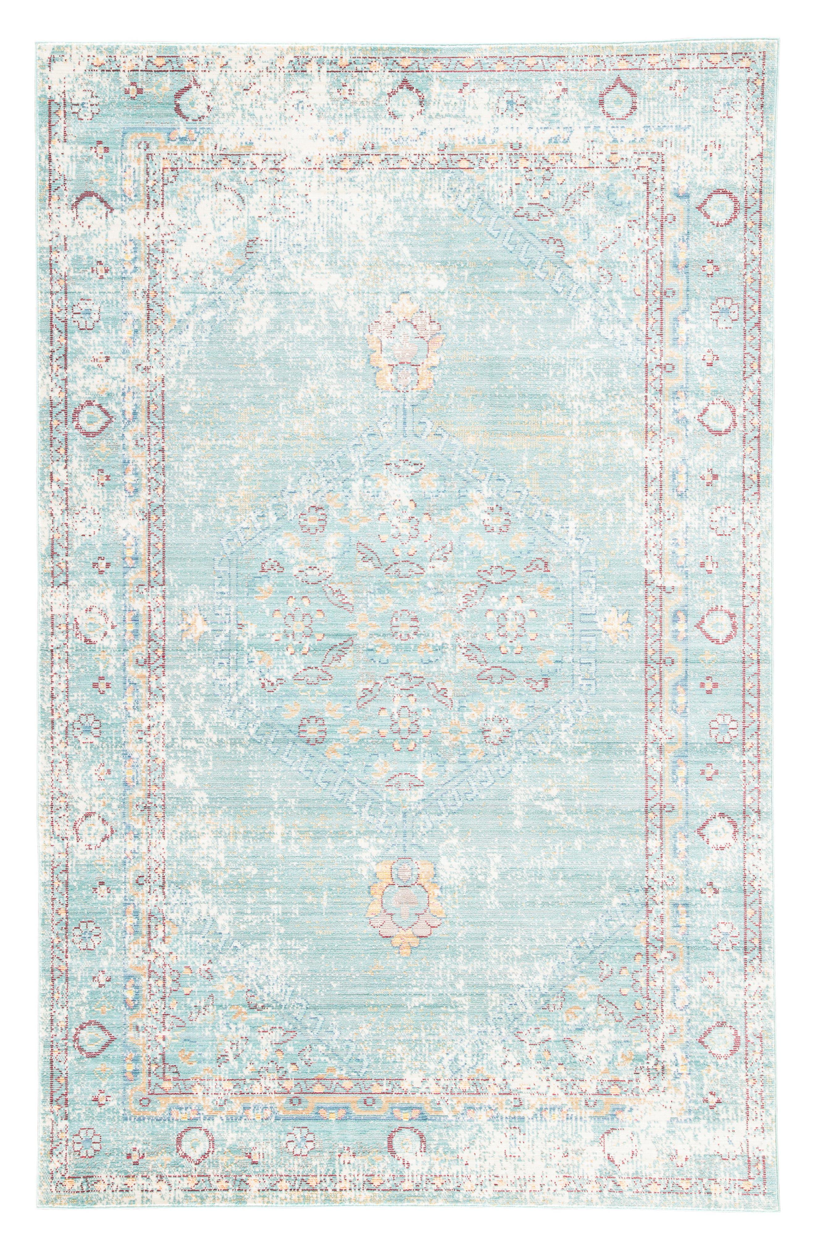JAIPUR Contemporary Porcelain Rug, Main, color, BLUE/ GREY