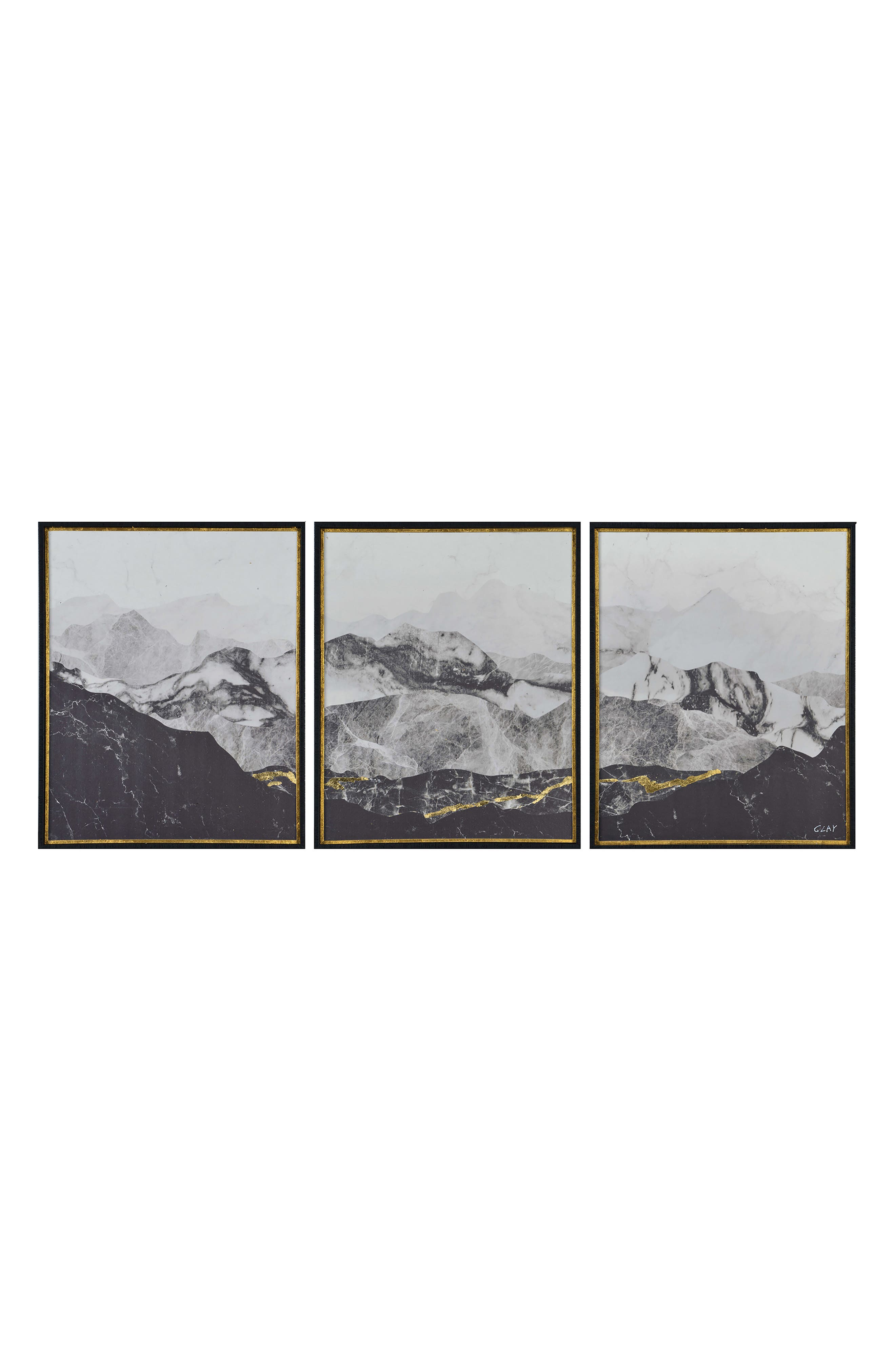 RENWIL Manford Three-Panel Wall Art, Main, color, MULTICOLOR