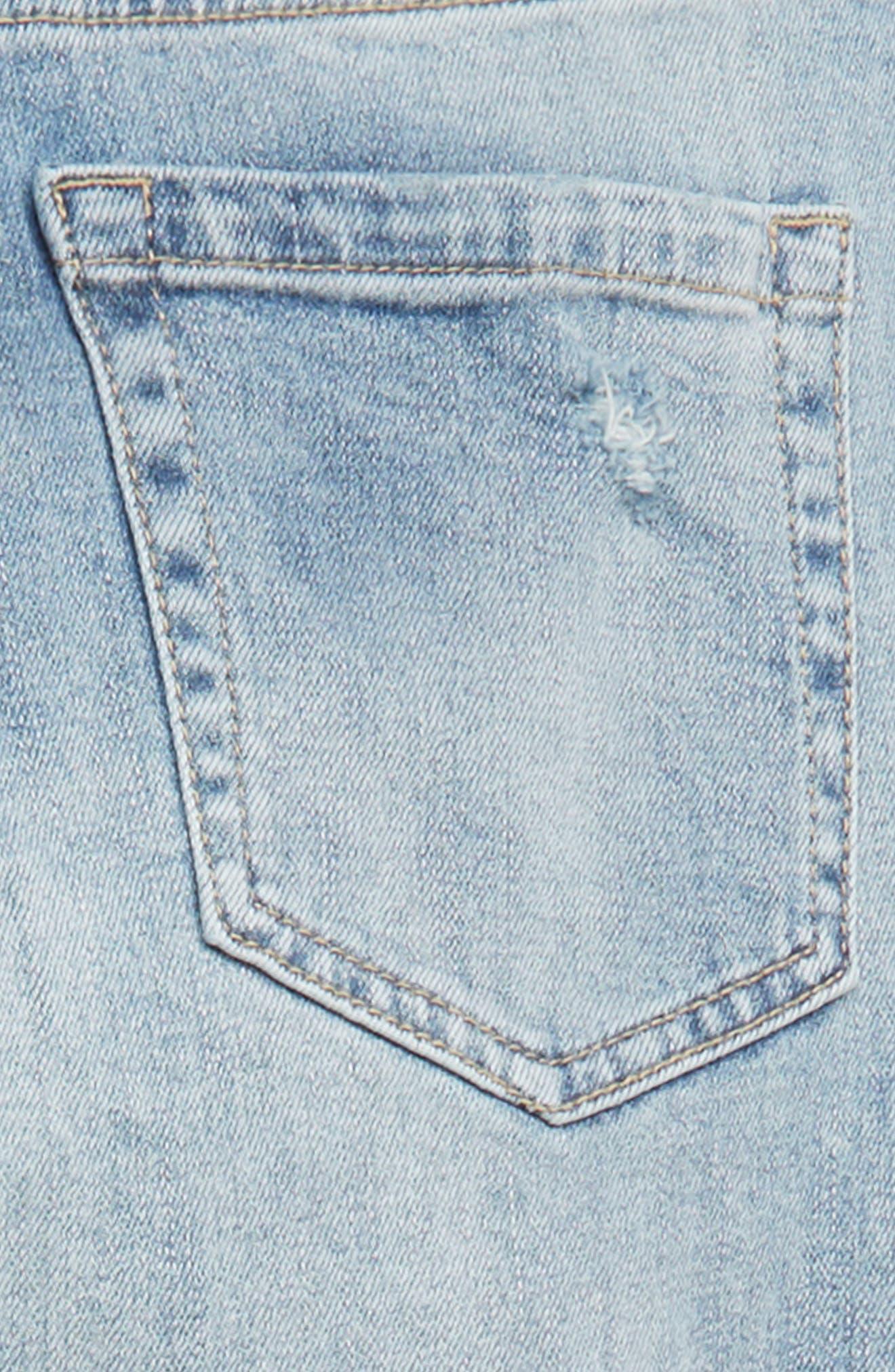 TREASURE & BOND, High Waist Distressed Skinny Jeans, Alternate thumbnail 3, color, VINTAGE LIGHT WASH