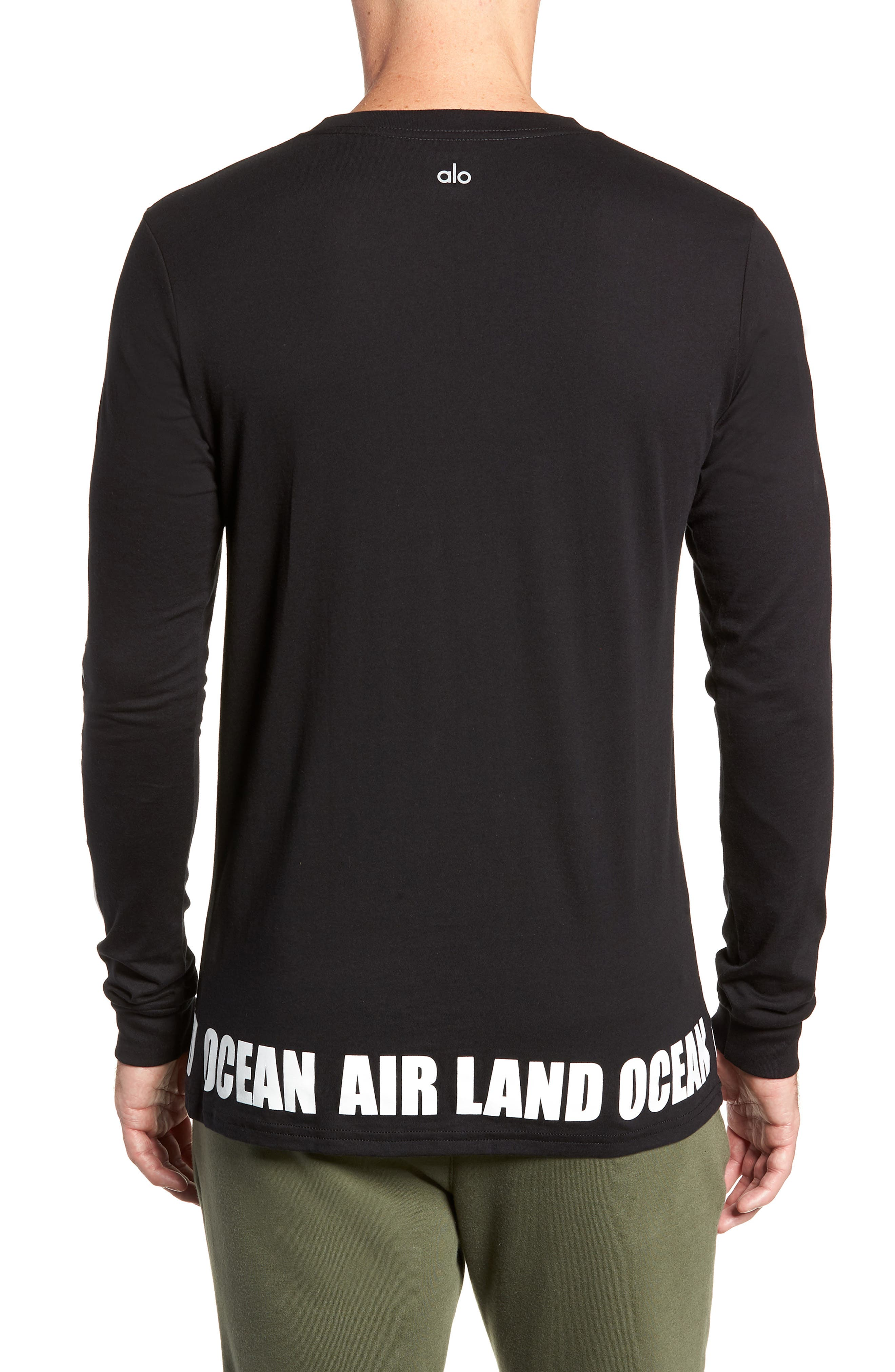 ALO, Fairfax Long Sleeve T-Shirt, Alternate thumbnail 2, color, LOS ANGELES