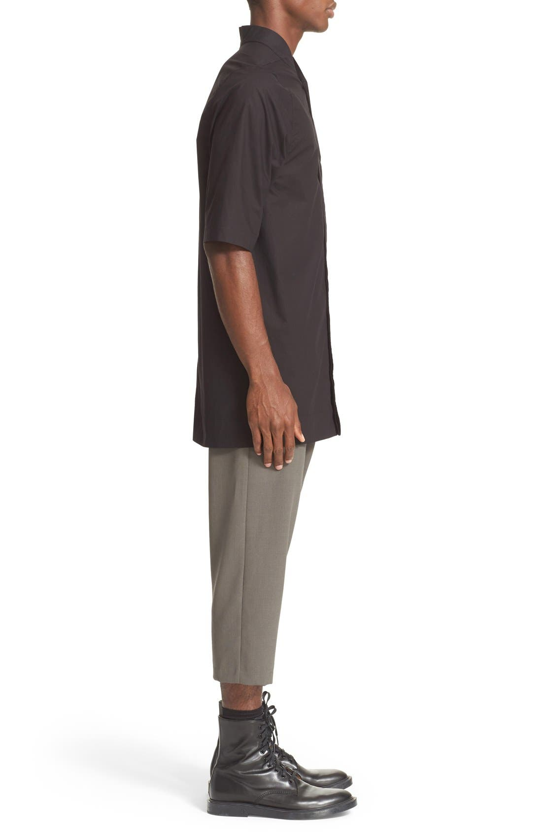 RICK OWENS, Drop Crotch Wool Pants, Alternate thumbnail 4, color, 021