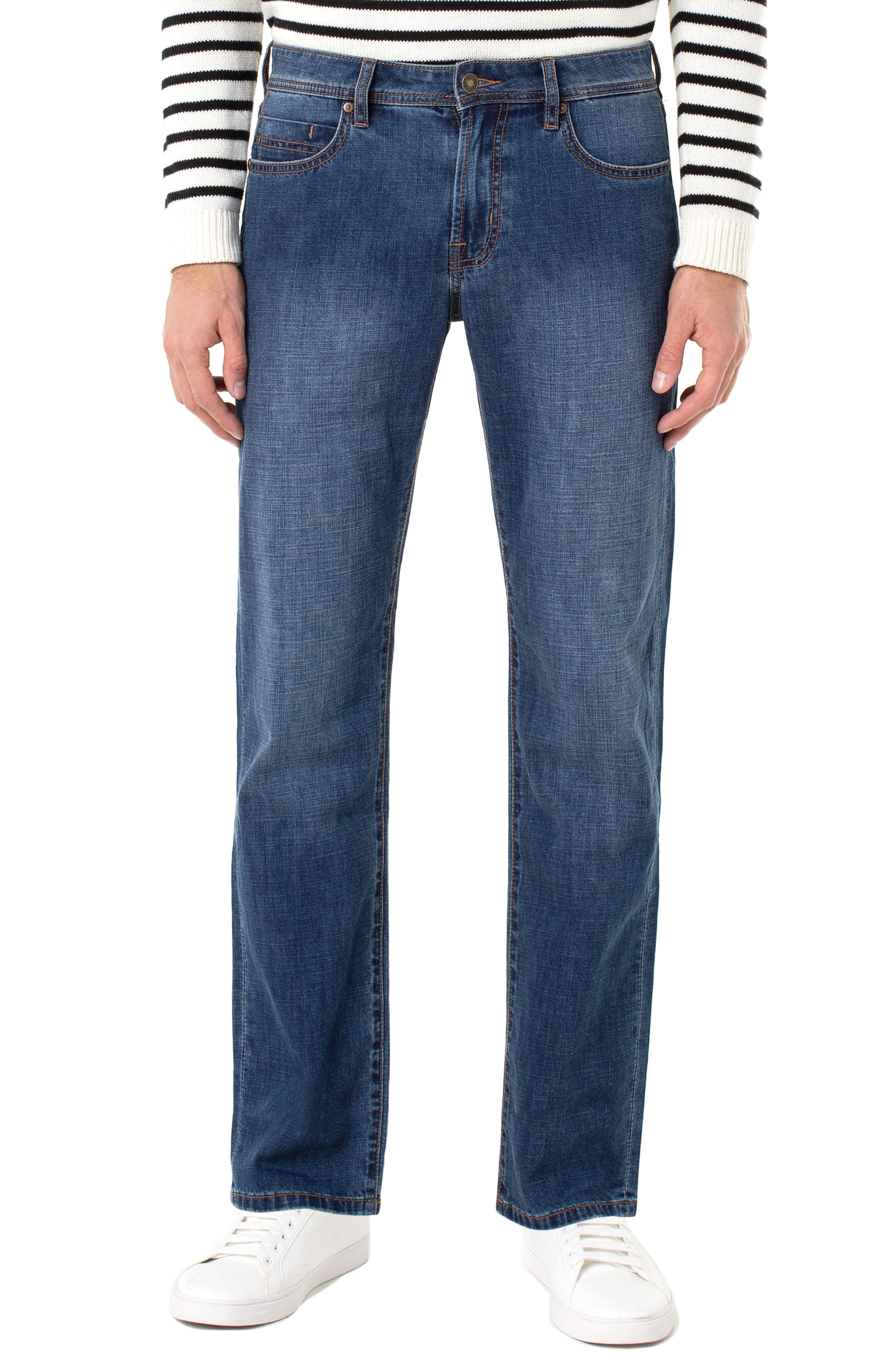 LIVERPOOL, Regent Relaxed Straight Leg Jeans, Main thumbnail 1, color, ANDERSON MID