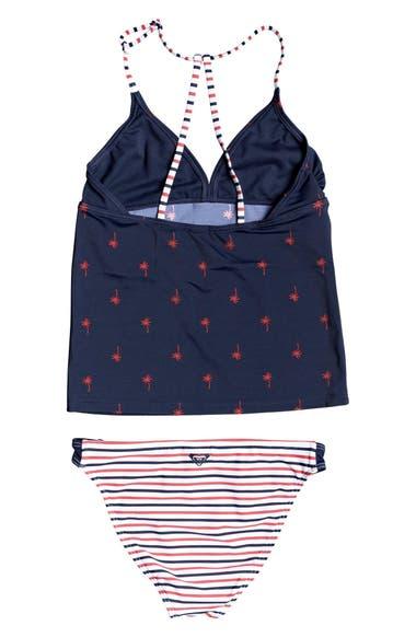 3344b7f942 Roxy Chasing Love Two-Piece Tankini Swimsuit (Big Girls) | Nordstrom