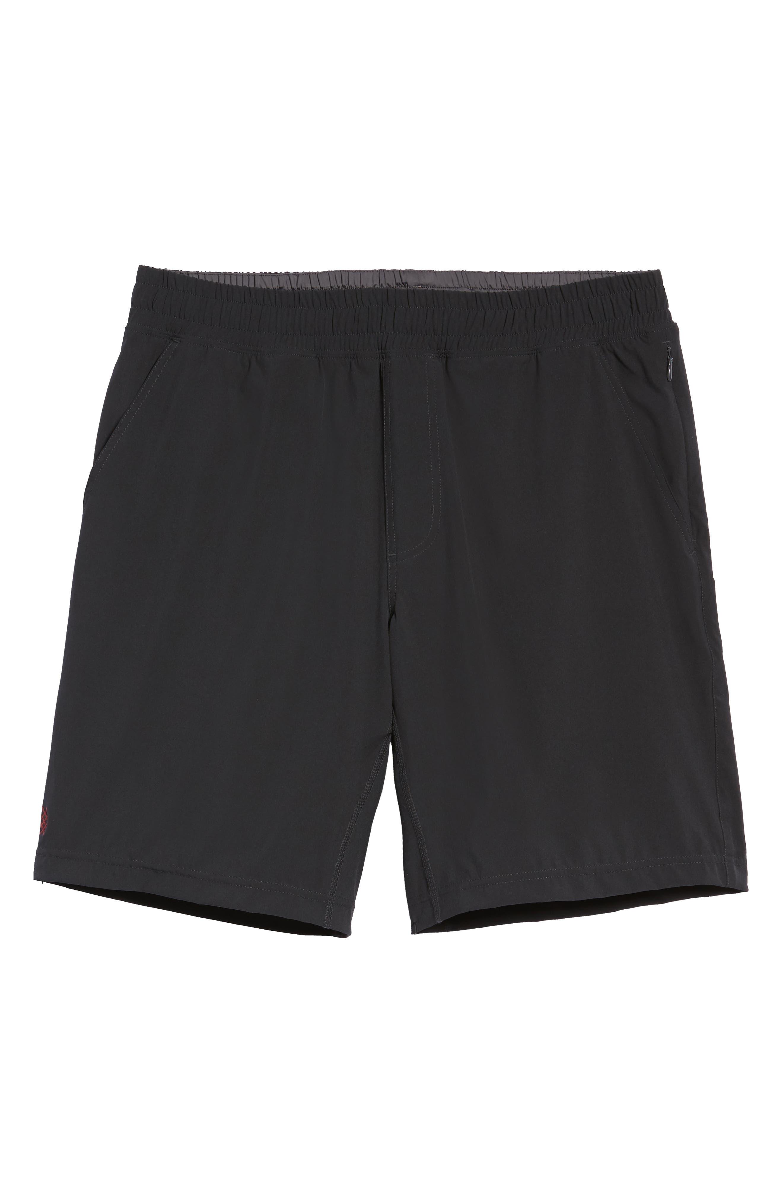 RHONE, Mako Lined Shorts, Alternate thumbnail 6, color, BLACK
