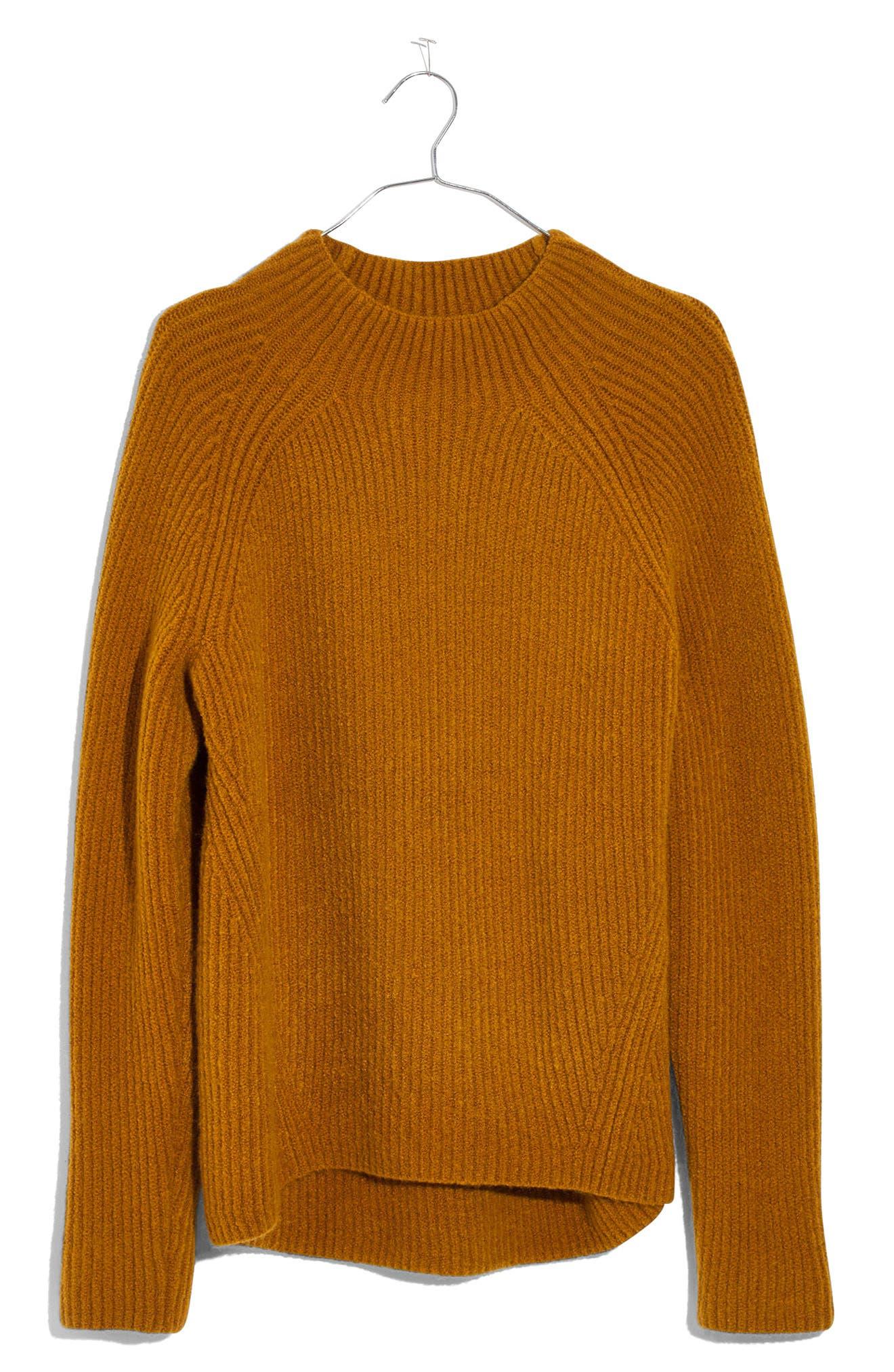 MADEWELL, Northfield Mock Neck Sweater, Alternate thumbnail 4, color, 800