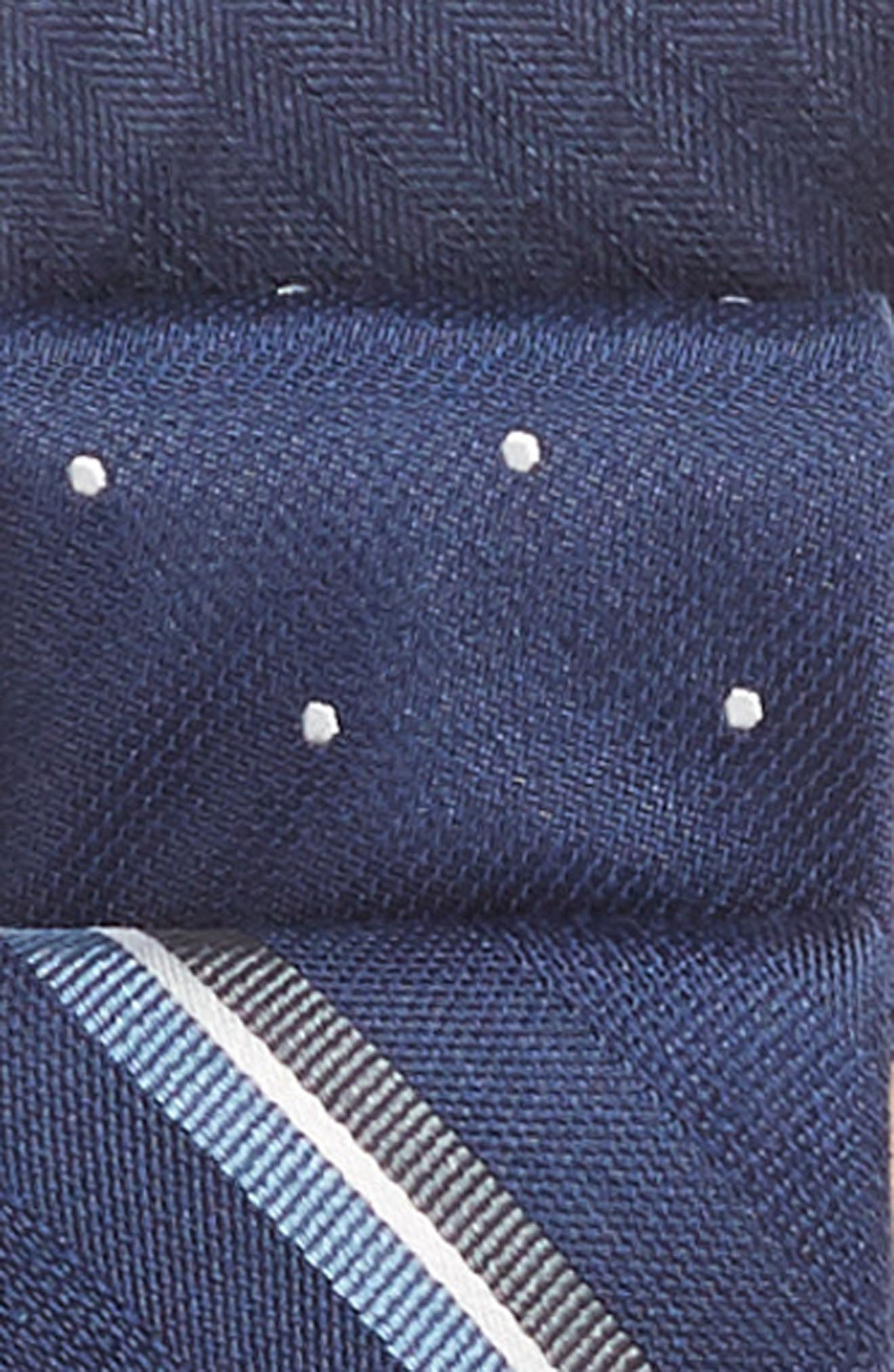 THE TIE BAR, 3-Pack Navy Tie Set, Alternate thumbnail 3, color, NAVY
