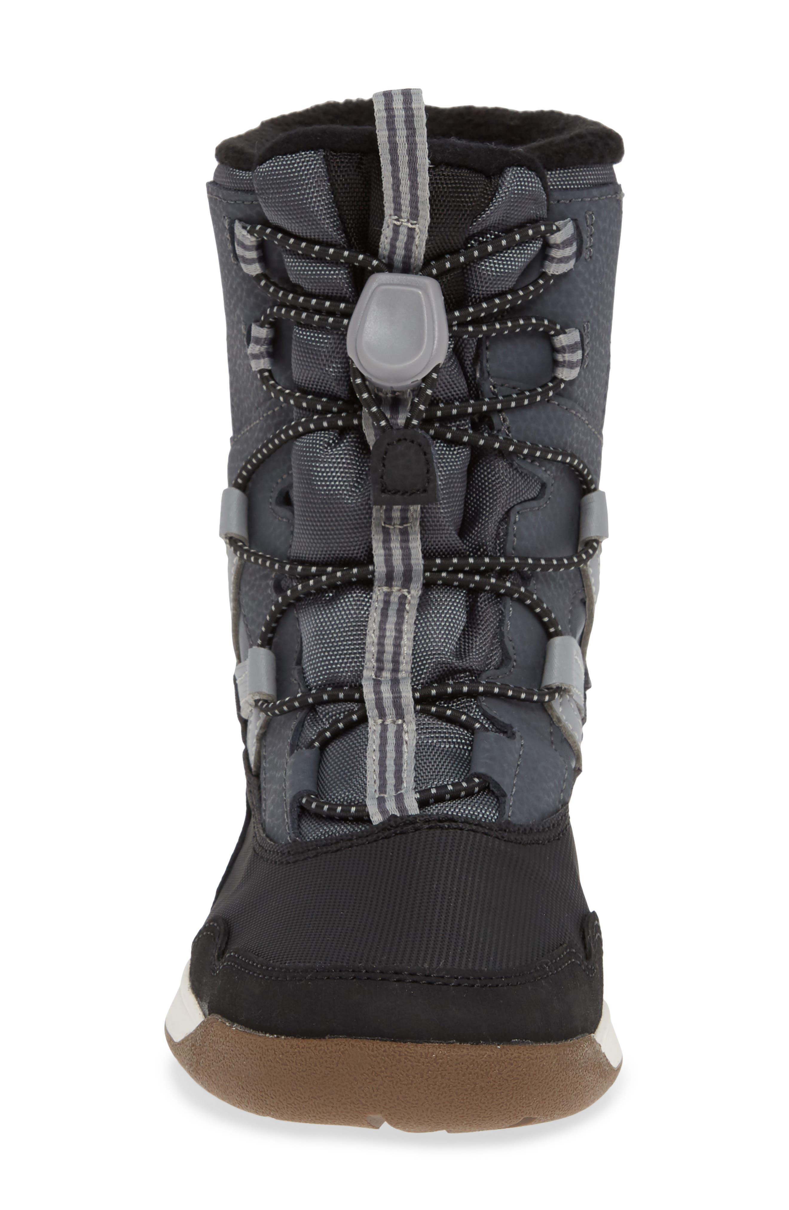MERRELL, Snow Crush Waterproof Snow Boot, Alternate thumbnail 4, color, 020