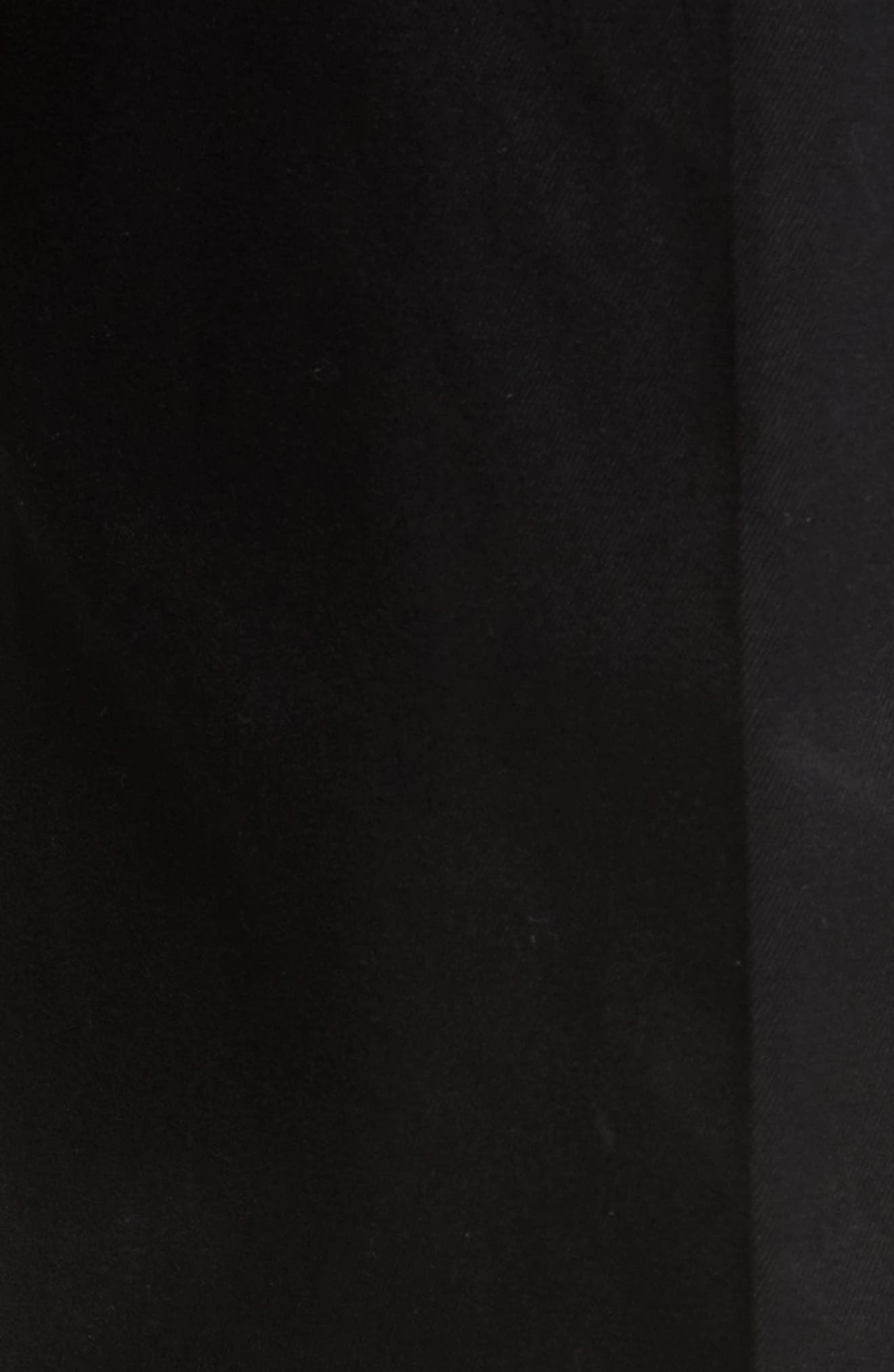 NORDSTROM MEN'S SHOP, 'Classic' Smartcare<sup>™</sup> Relaxed Fit Double Pleated Cotton Pants, Alternate thumbnail 6, color, BLACK