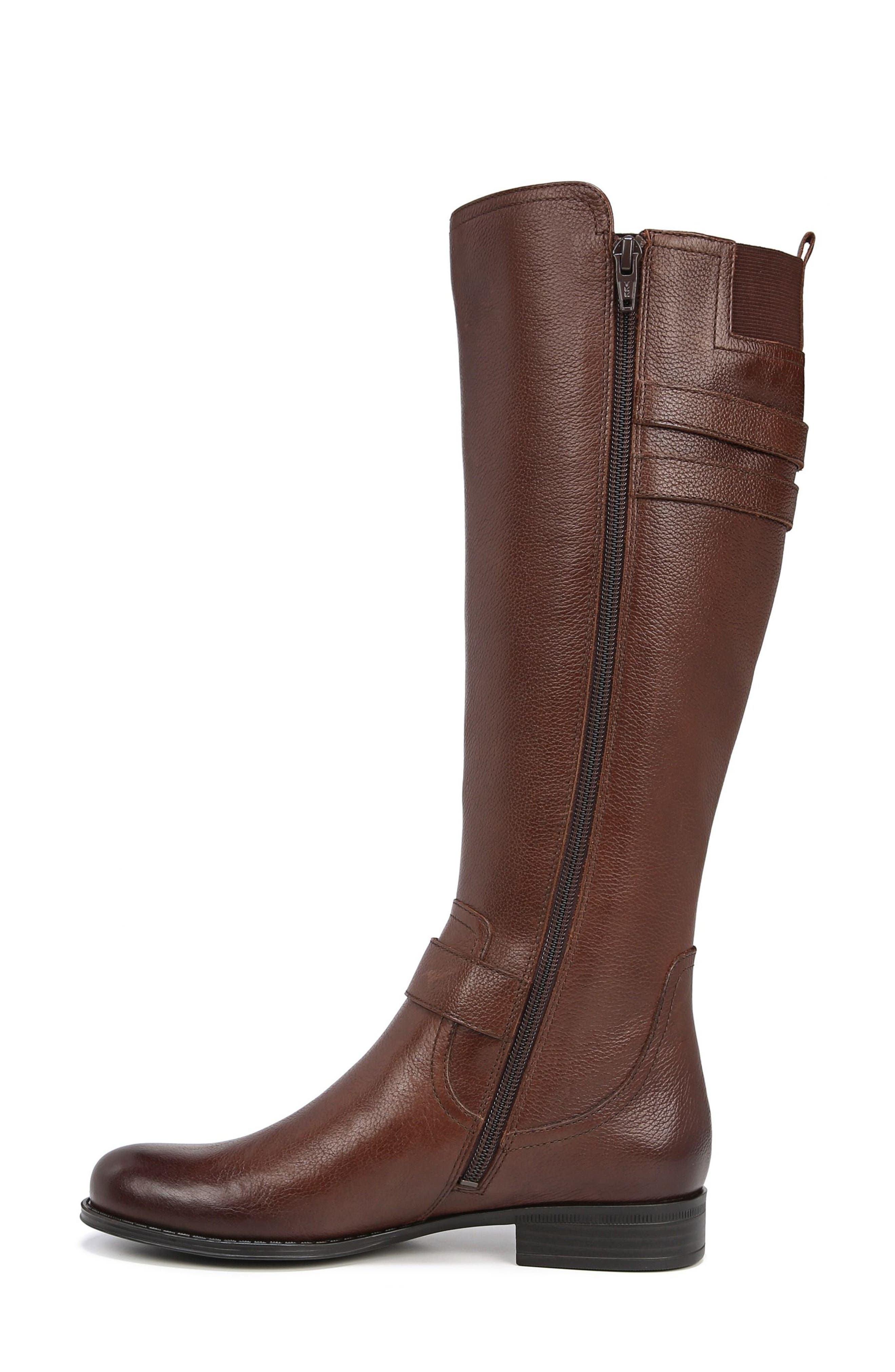 NATURALIZER, Jessie Knee High Riding Boot, Alternate thumbnail 7, color, CHOCOLATE LEATHER