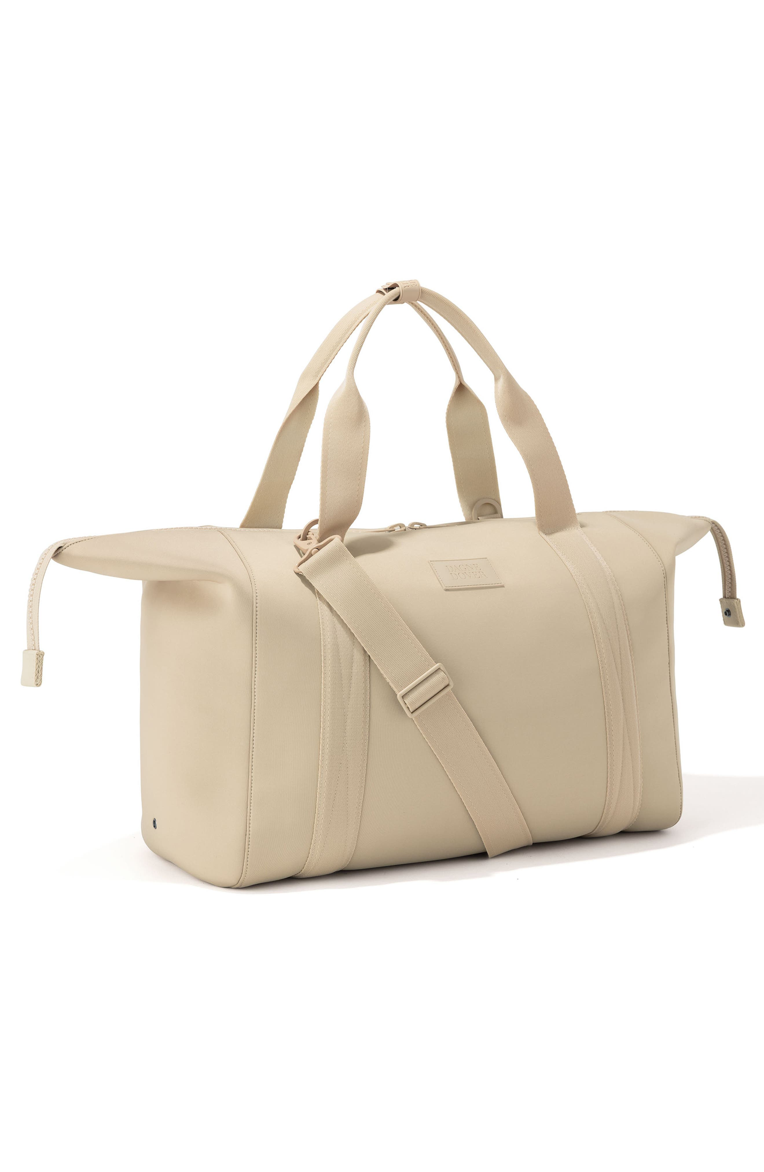 DAGNE DOVER, XL Landon Carryall Duffel Bag, Alternate thumbnail 5, color, ALMOND LATTE