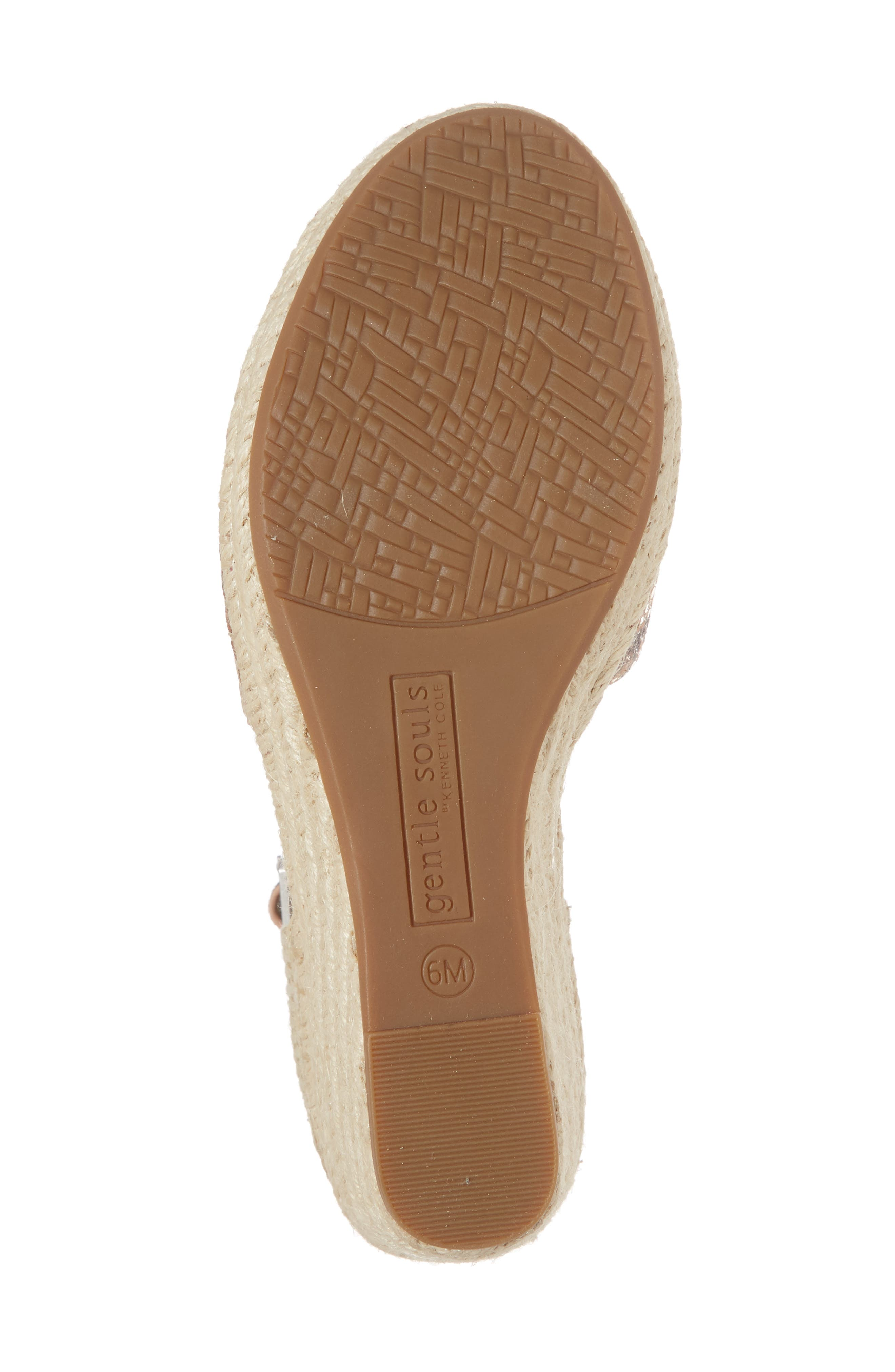 GENTLE SOULS BY KENNETH COLE, Charli Espadrille Wedge, Alternate thumbnail 6, color, ROSE METALLIC LEATHER