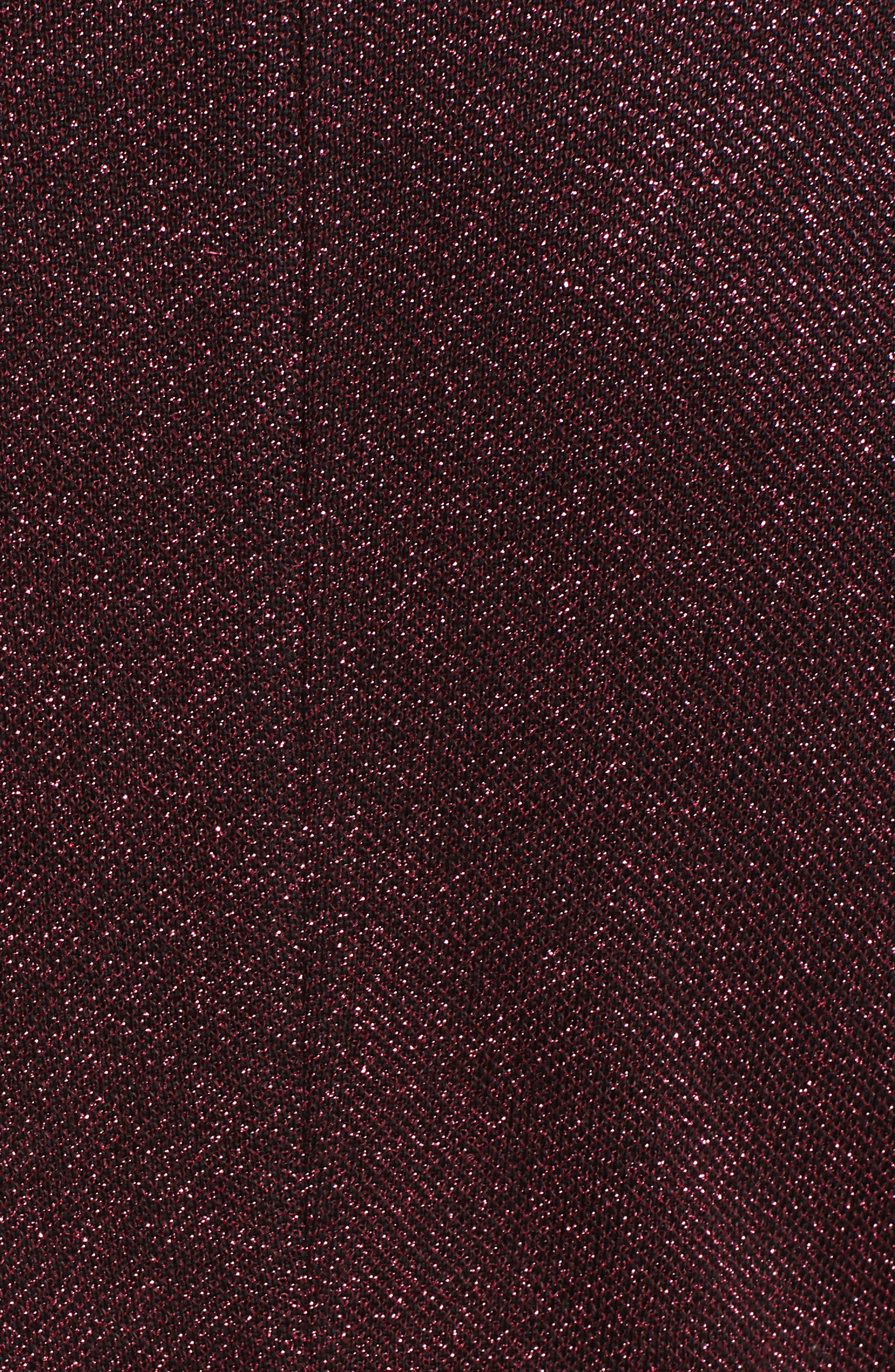 ST. JOHN COLLECTION, Mod Metallic Knit Gown, Alternate thumbnail 5, color, DARK PINK MULTI