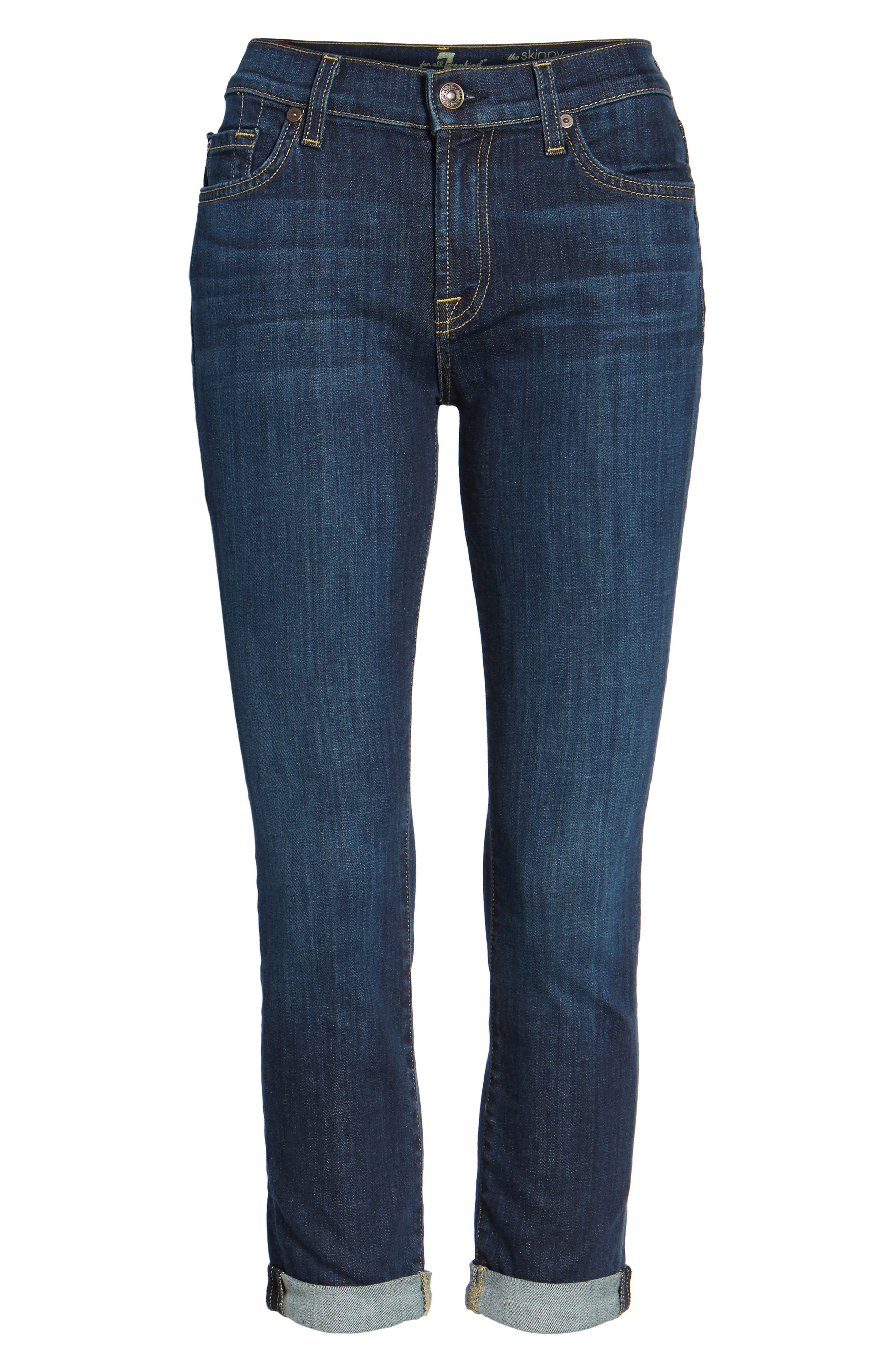 7 FOR ALL MANKIND<SUP>®</SUP>, Crop Skinny Jeans, Alternate thumbnail 2, color, 400