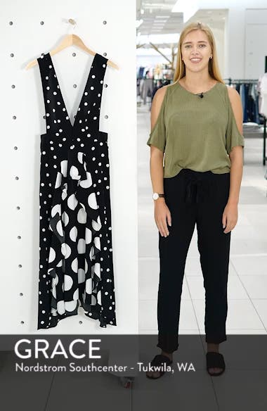 Spot Plunge Neck Midi Dress, sales video thumbnail