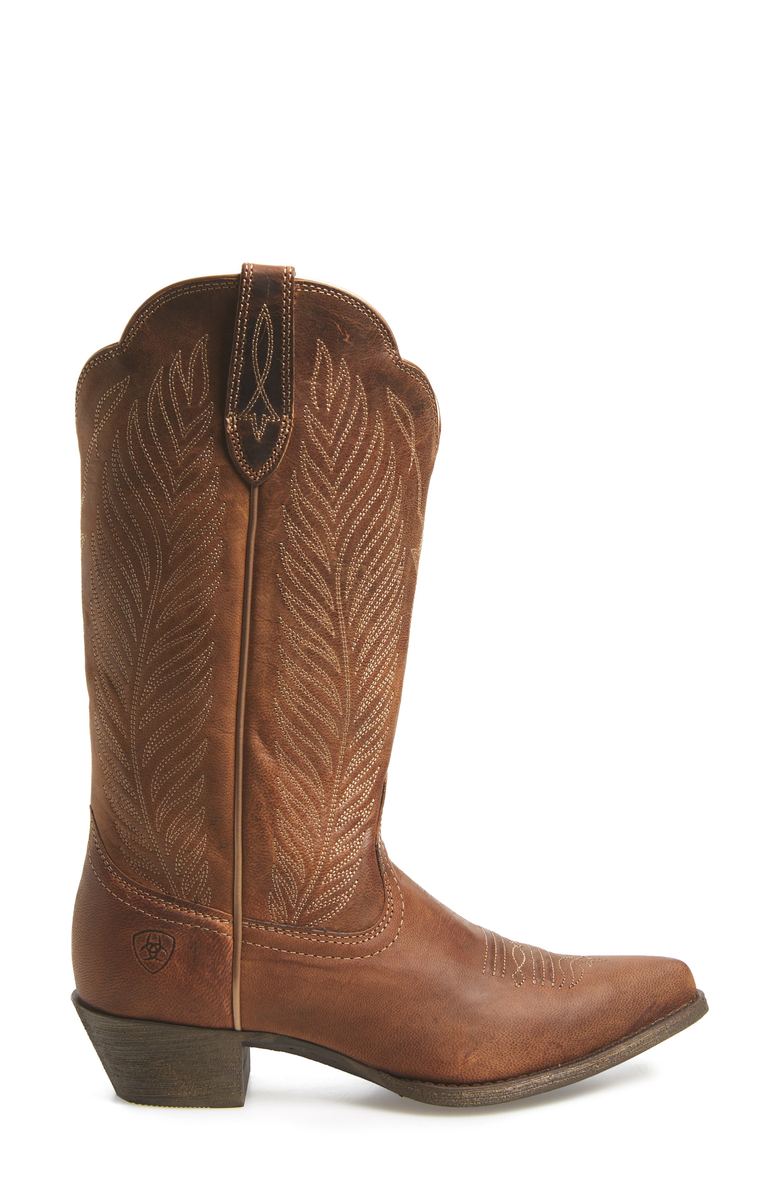 ARIAT, Round-Up Johanna Western Boot, Alternate thumbnail 3, color, PEARL LEATHER