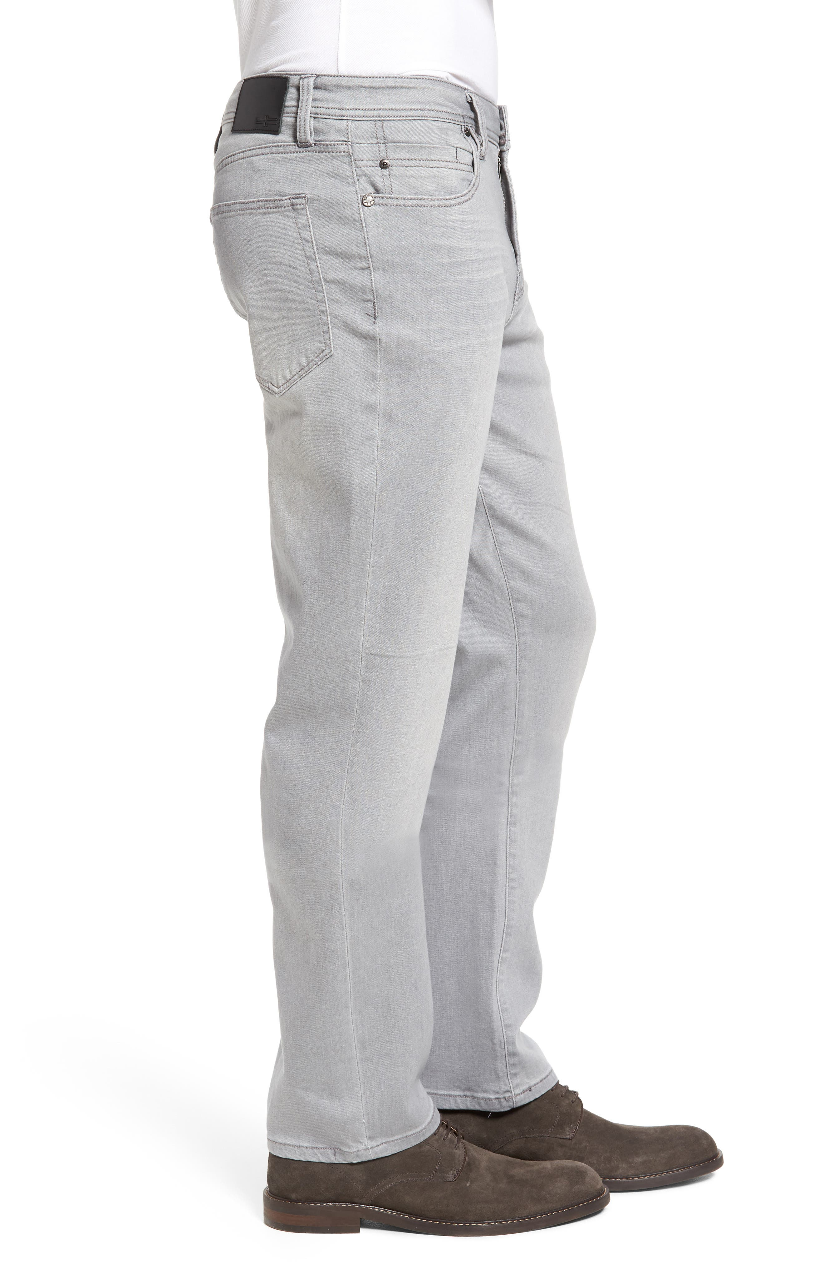 LIVERPOOL, Regent Relaxed Straight Leg Jeans, Alternate thumbnail 3, color, COAL MINE DARK