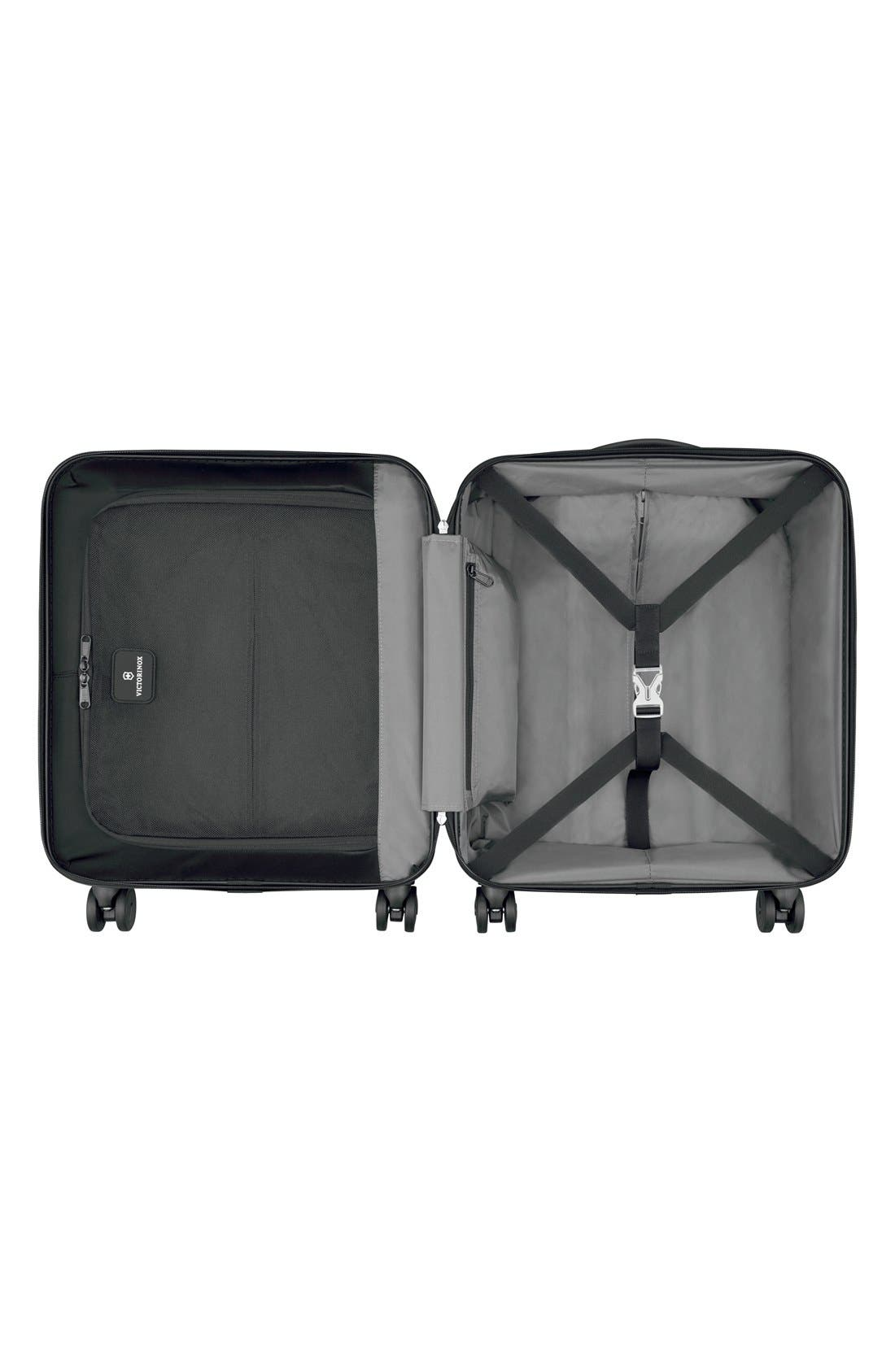 VICTORINOX SWISS ARMY<SUP>®</SUP>, Spectra 2.0 Extra Capacity Hard Sided Rolling 22-Inch Carry-On, Alternate thumbnail 2, color, BLACK
