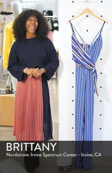 Felix Stripe Silk Jumpsuit, sales video thumbnail