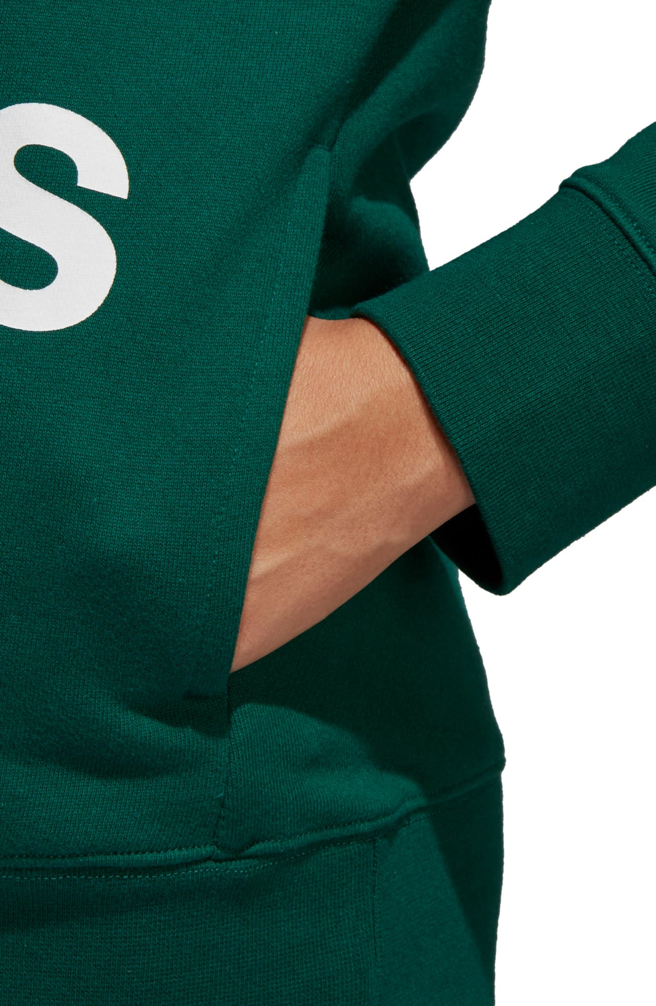 ADIDAS ORIGINALS, adidas Trefoil Logo Hoodie, Alternate thumbnail 5, color, COLLEGIATE GREEN