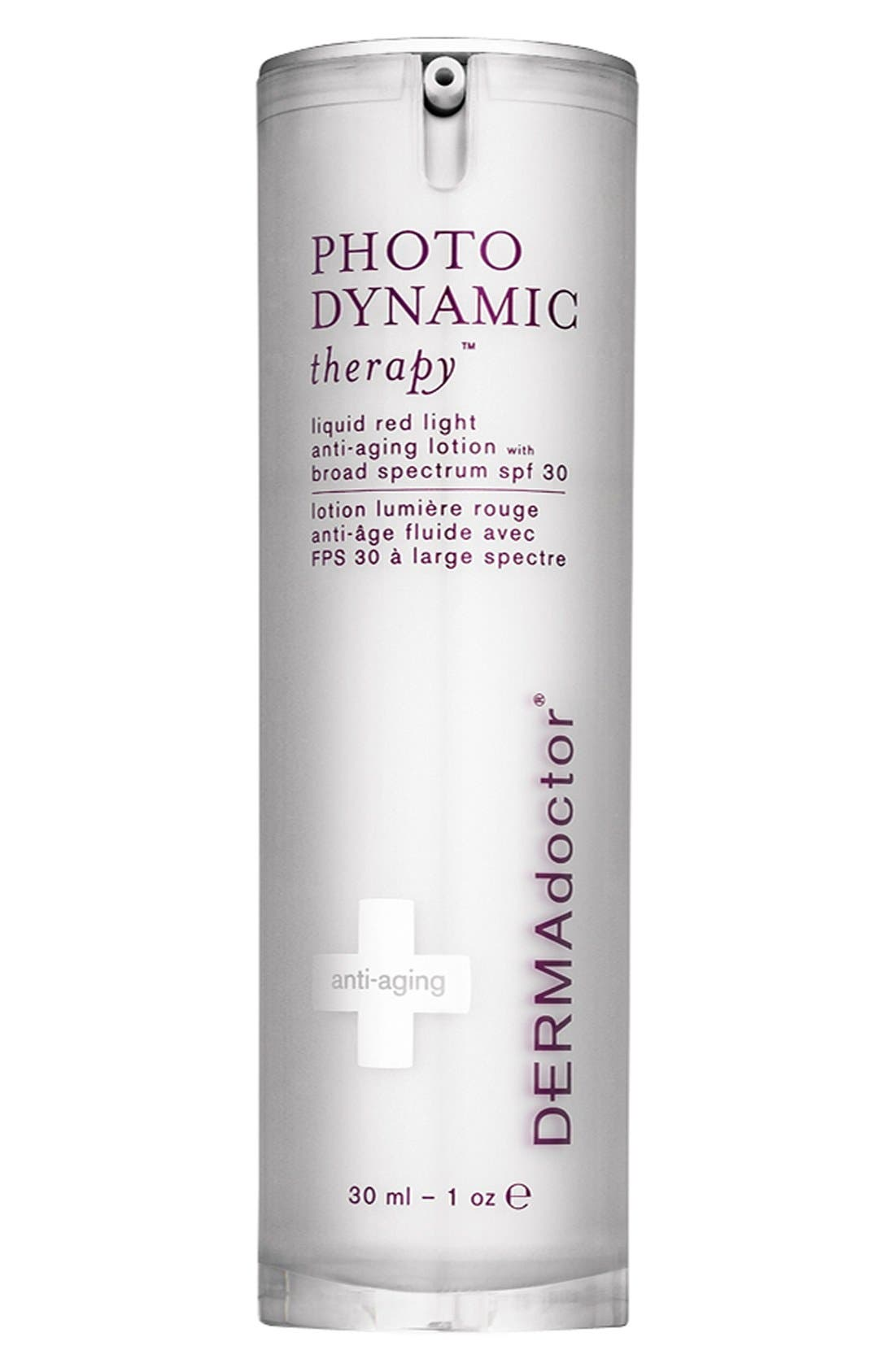 DERMADOCTOR<SUP>®</SUP>, 'PHOTODYNAMIC therapy<sup>®</sup>' 3-in-1 Facial Lotion with Broad Spectrum SPF 30, Alternate thumbnail 2, color, NO COLOR