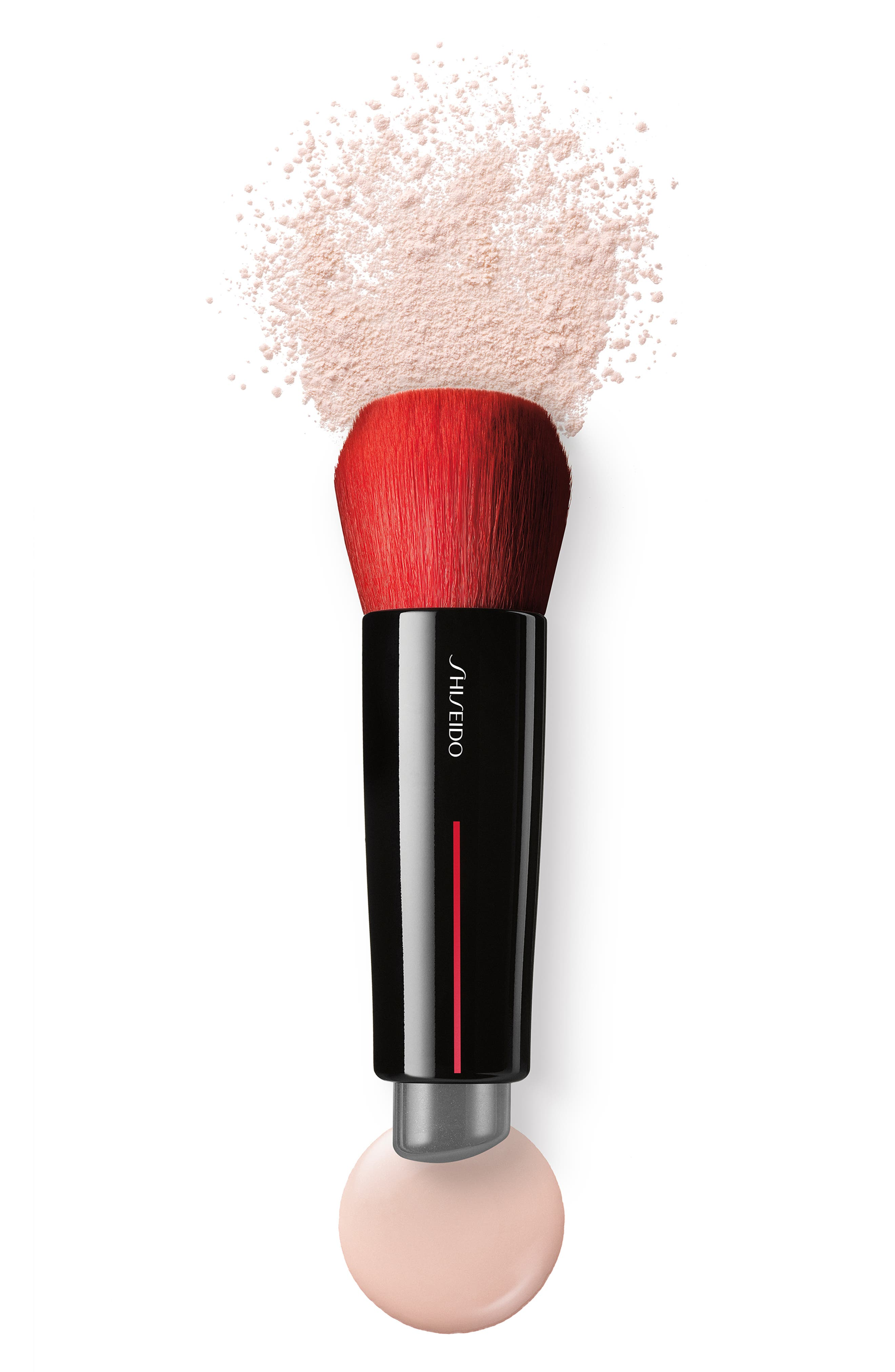 SHISEIDO, Daiya Fude Face Duo Brush, Alternate thumbnail 2, color, NO COLOR