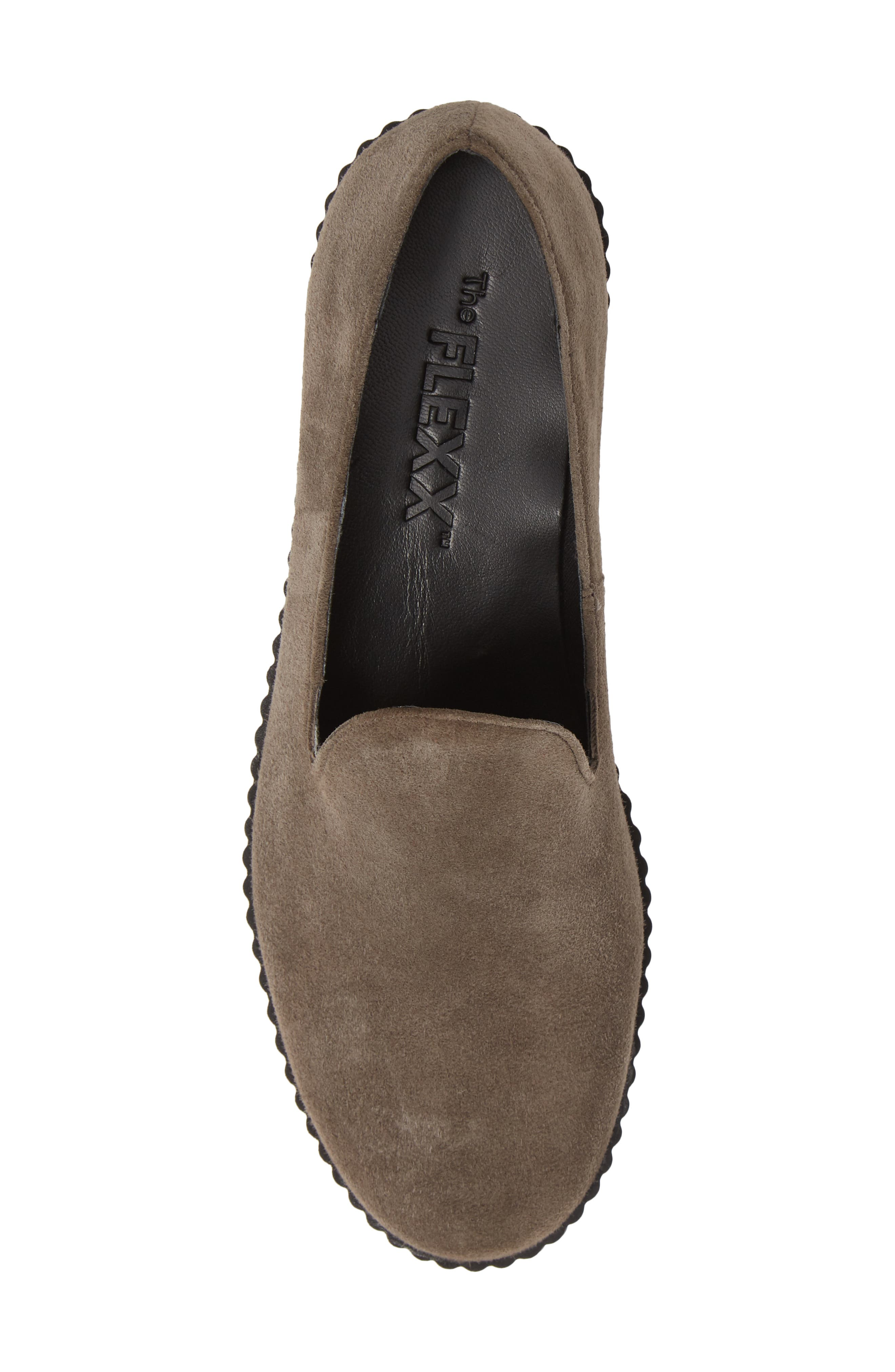 THE FLEXX, Fast Times Loafer, Alternate thumbnail 5, color, BROWN SUEDE