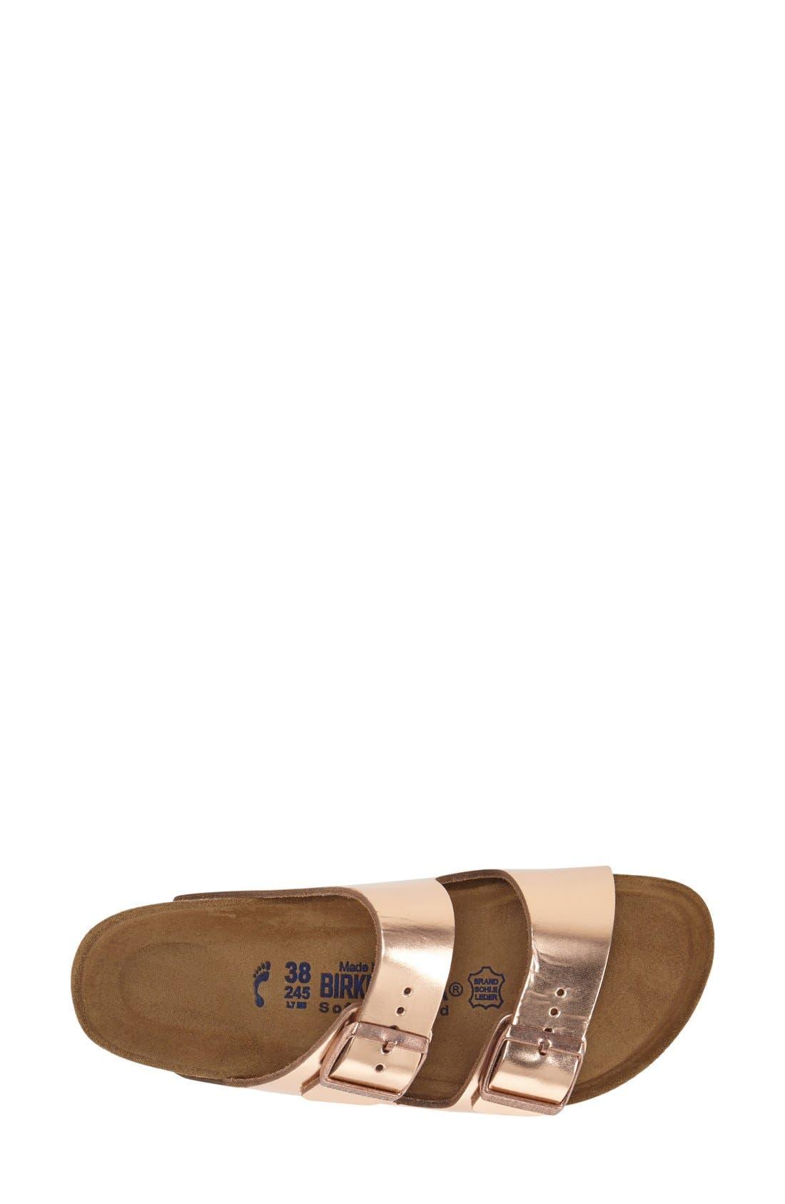 BIRKENSTOCK, 'Arizona' Soft Footbed Sandal, Alternate thumbnail 8, color, COPPER LEATHER