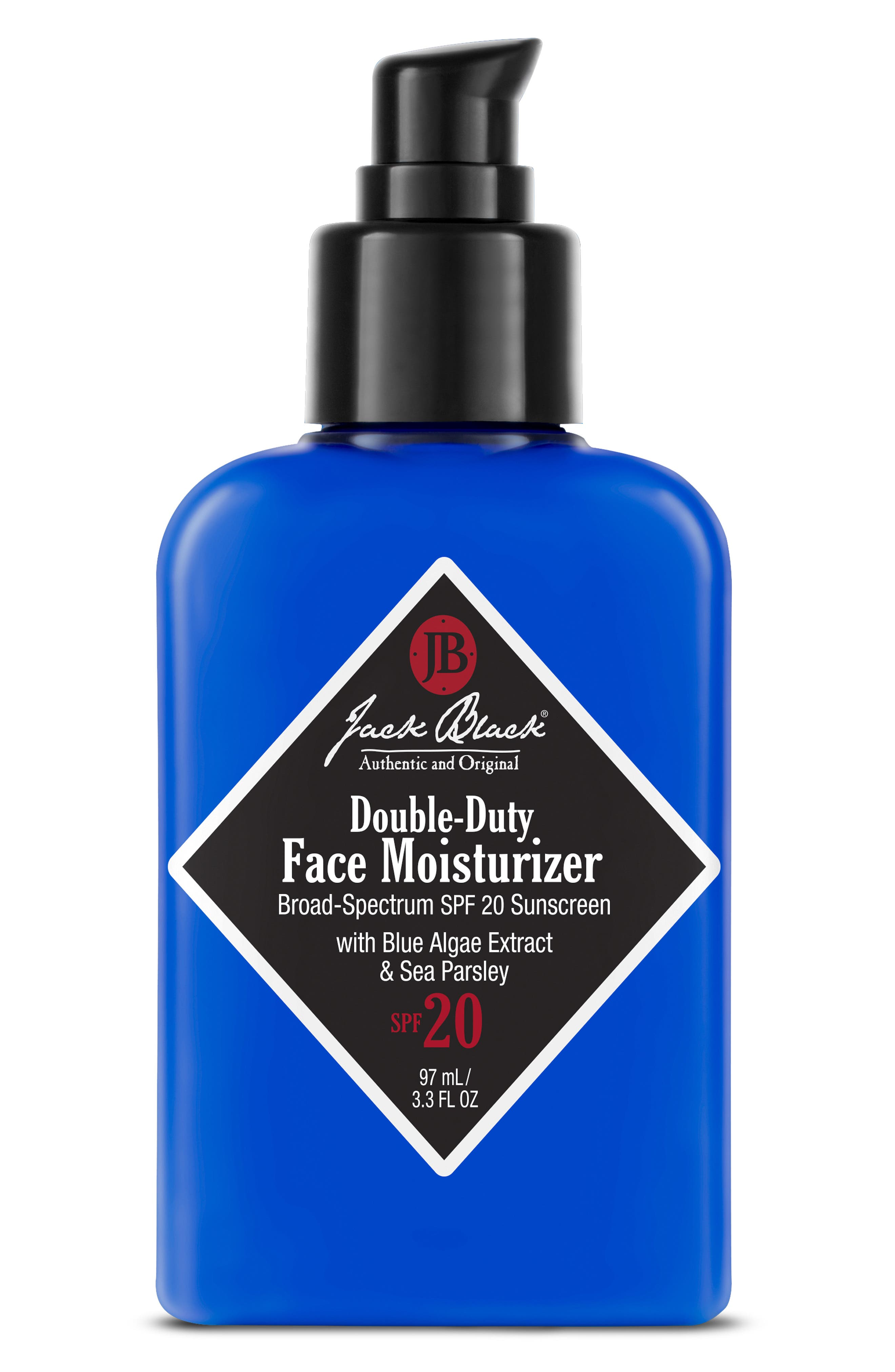 JACK BLACK, Double-Duty Face Moisturizer SPF 20, Alternate thumbnail 2, color, NO COLOR