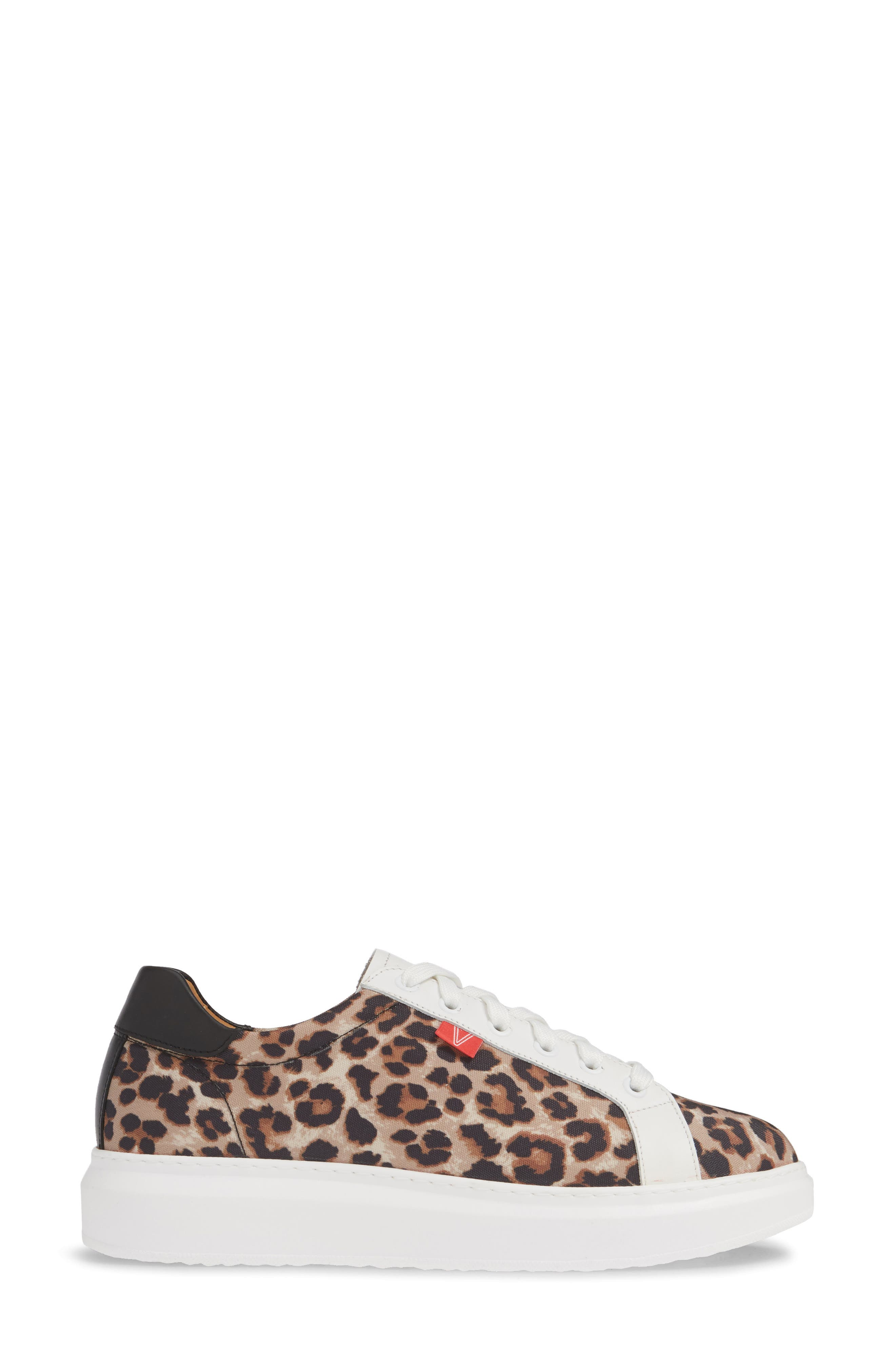 VERONICA BEARD, Daelyn Leopard Print Sneaker, Alternate thumbnail 3, color, LEOPARD