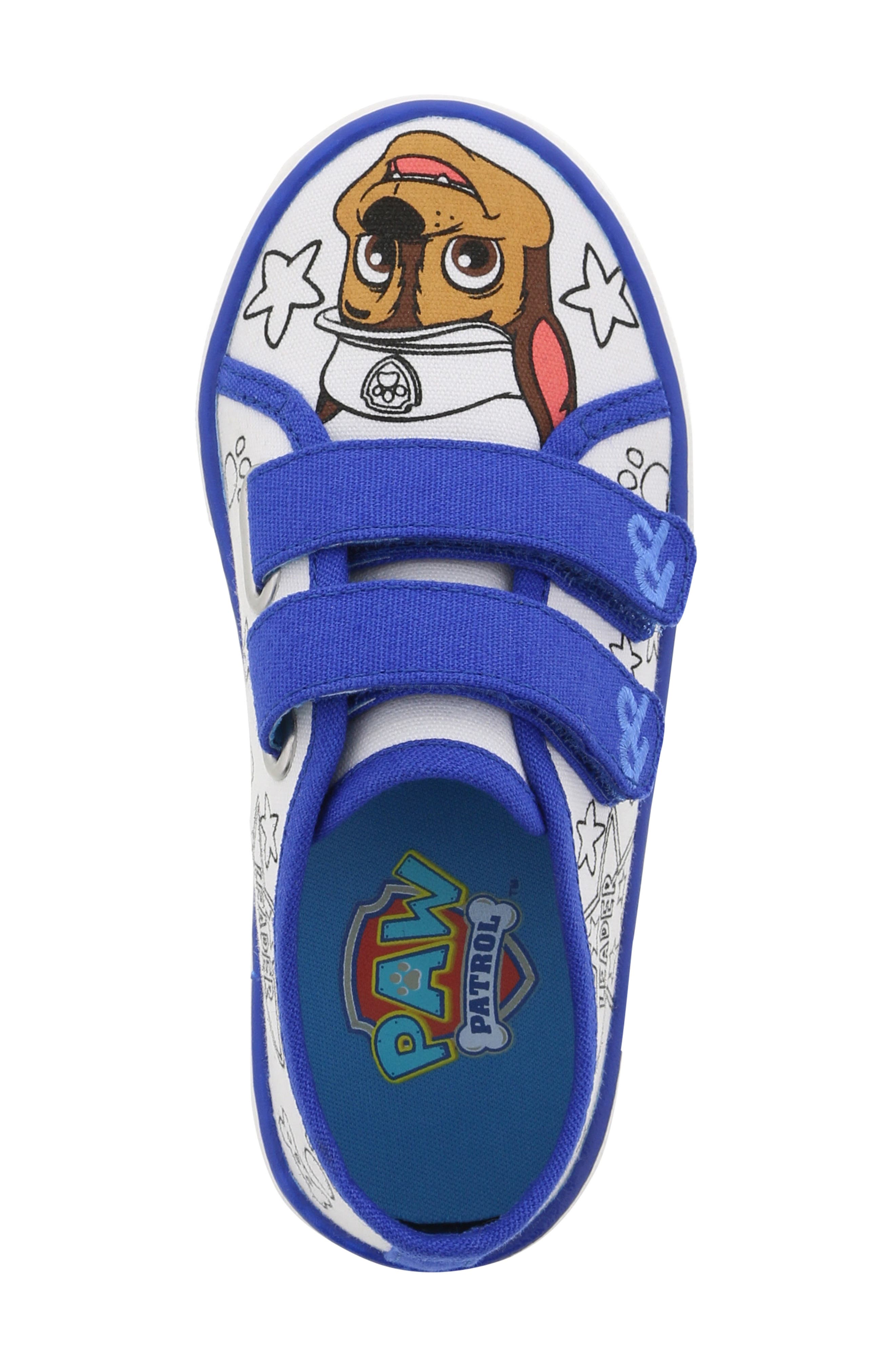 PAW PATROL, Chase Color DIY Sneaker, Alternate thumbnail 5, color, 118