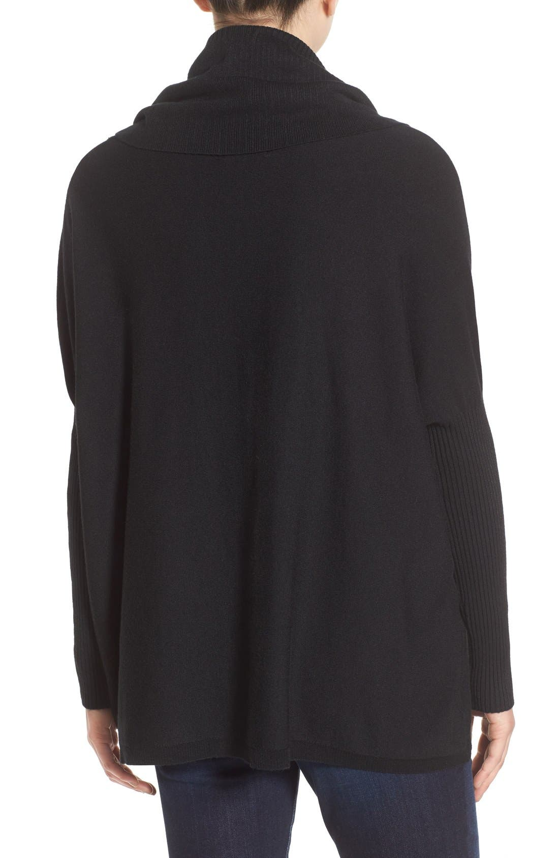 DREAMERS BY DEBUT, Cowl Neck Boxy Pullover, Alternate thumbnail 2, color, 001