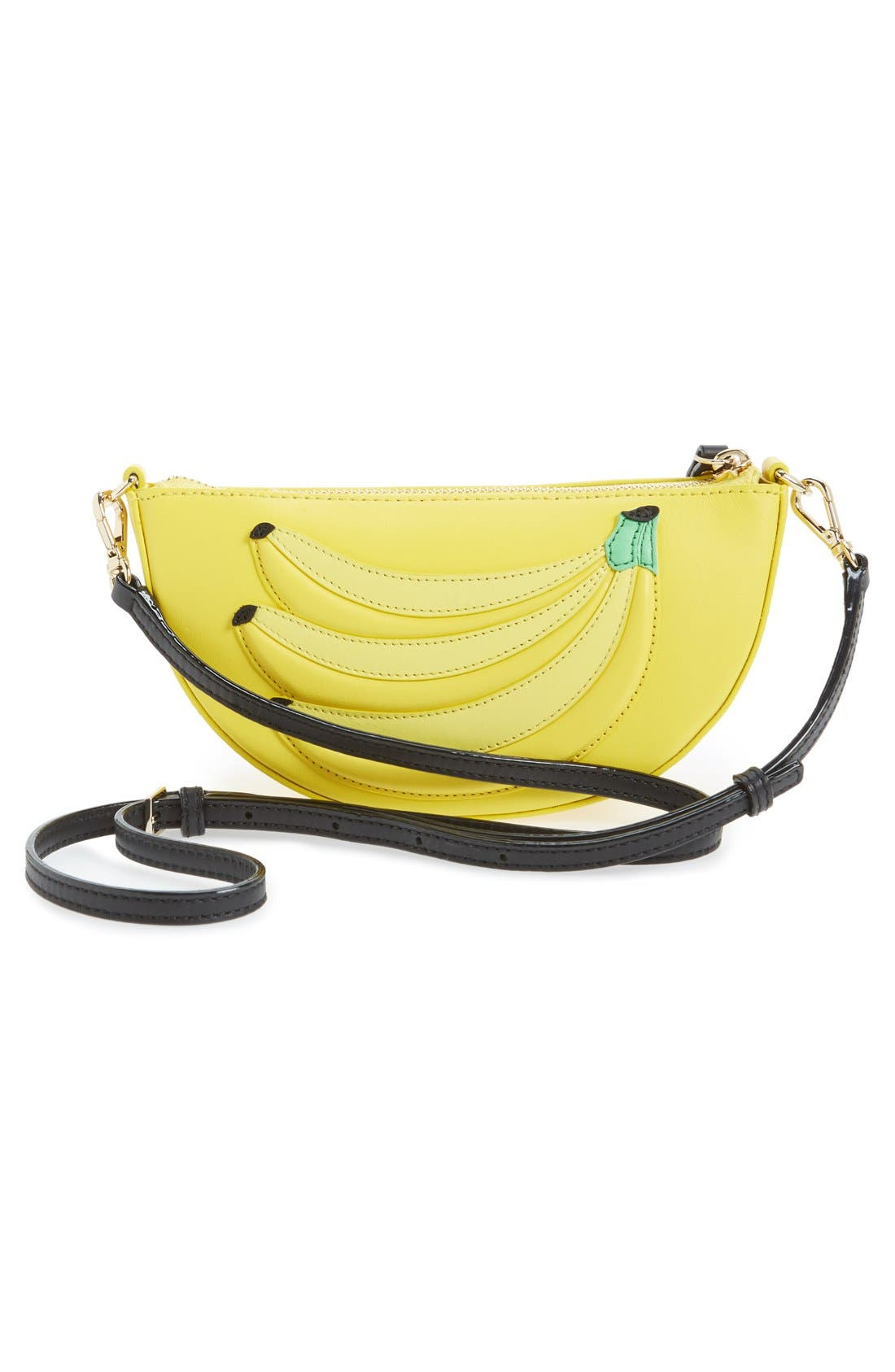 KATE SPADE NEW YORK, 'flights of fancy - bananas' crossbody bag, Alternate thumbnail 2, color, 700
