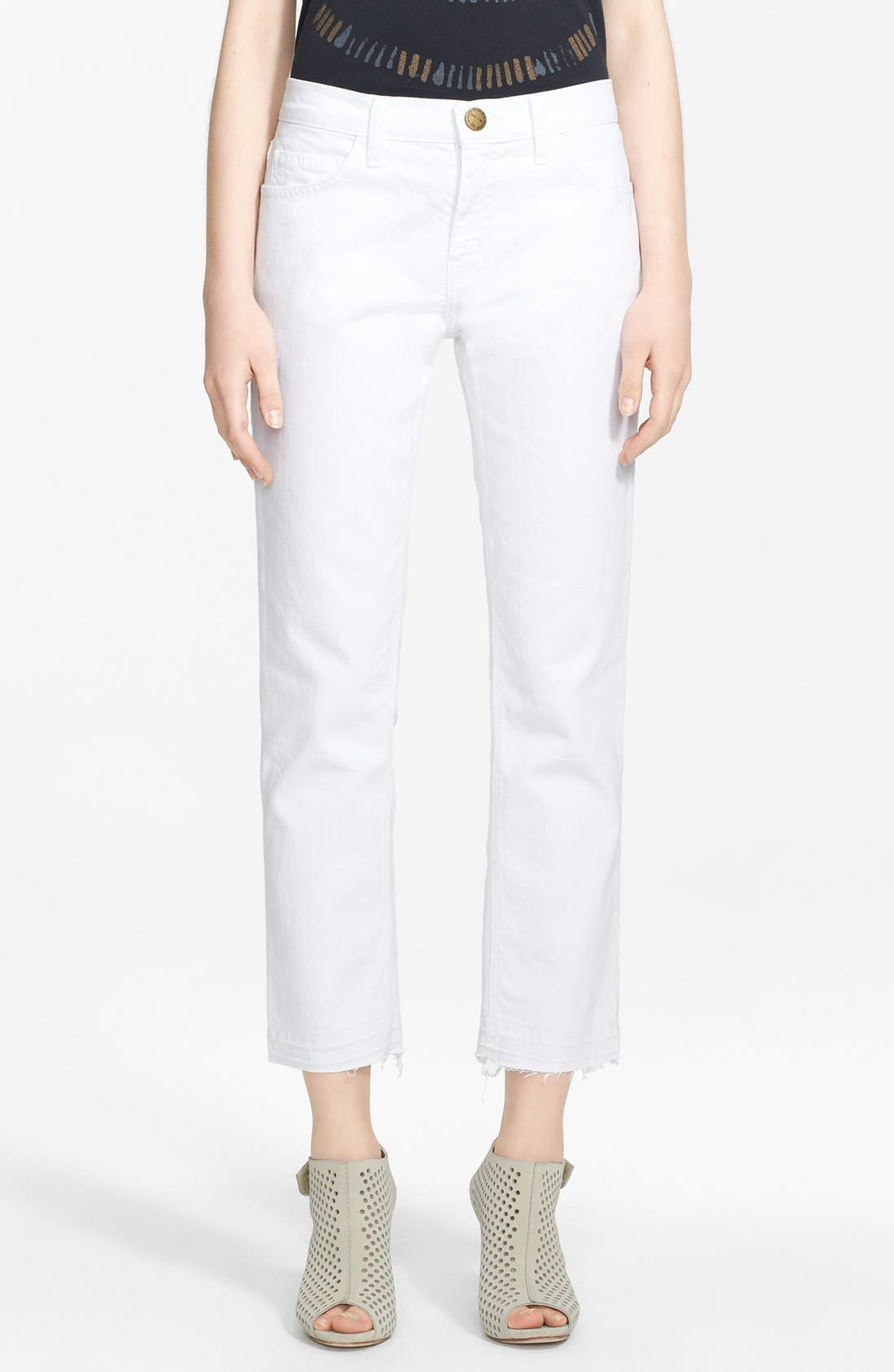 CURRENT/ELLIOTT, 'The Cropped Straight' Straight Leg Crop Jeans, Main thumbnail 1, color, 131