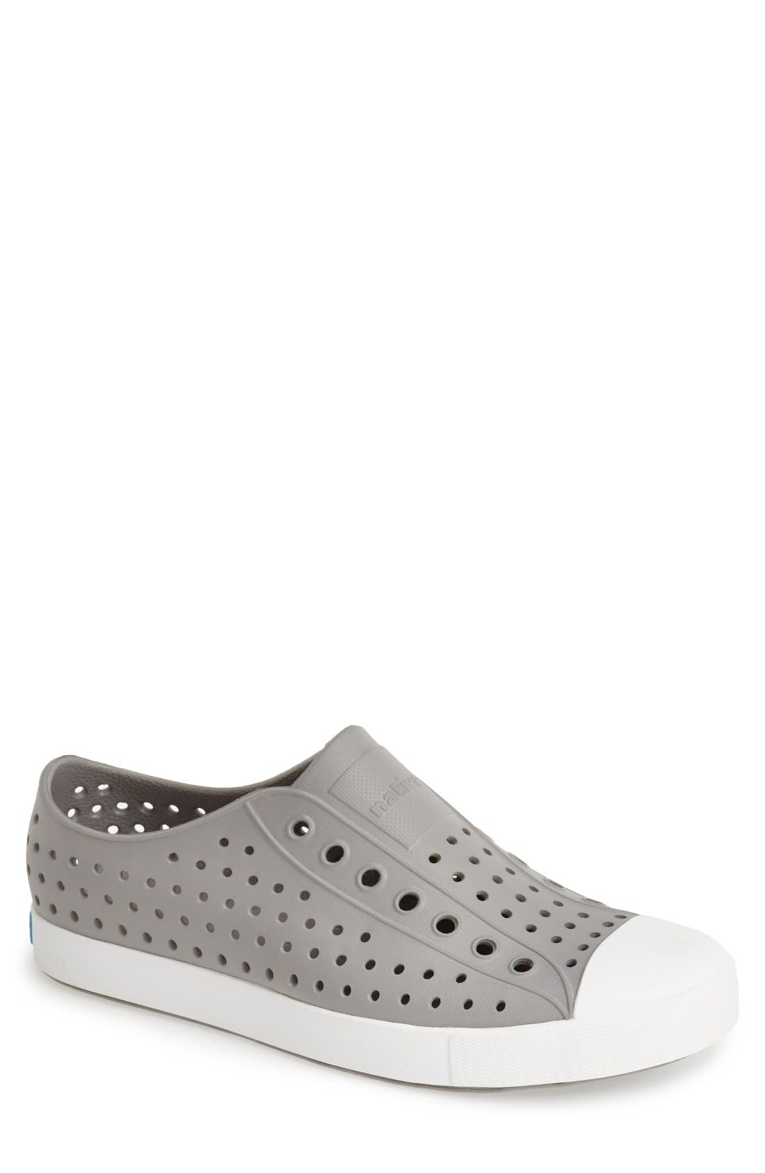 NATIVE SHOES, 'Jefferson' Slip-On, Main thumbnail 1, color, PIGEON GREY/ SHELL WHITE