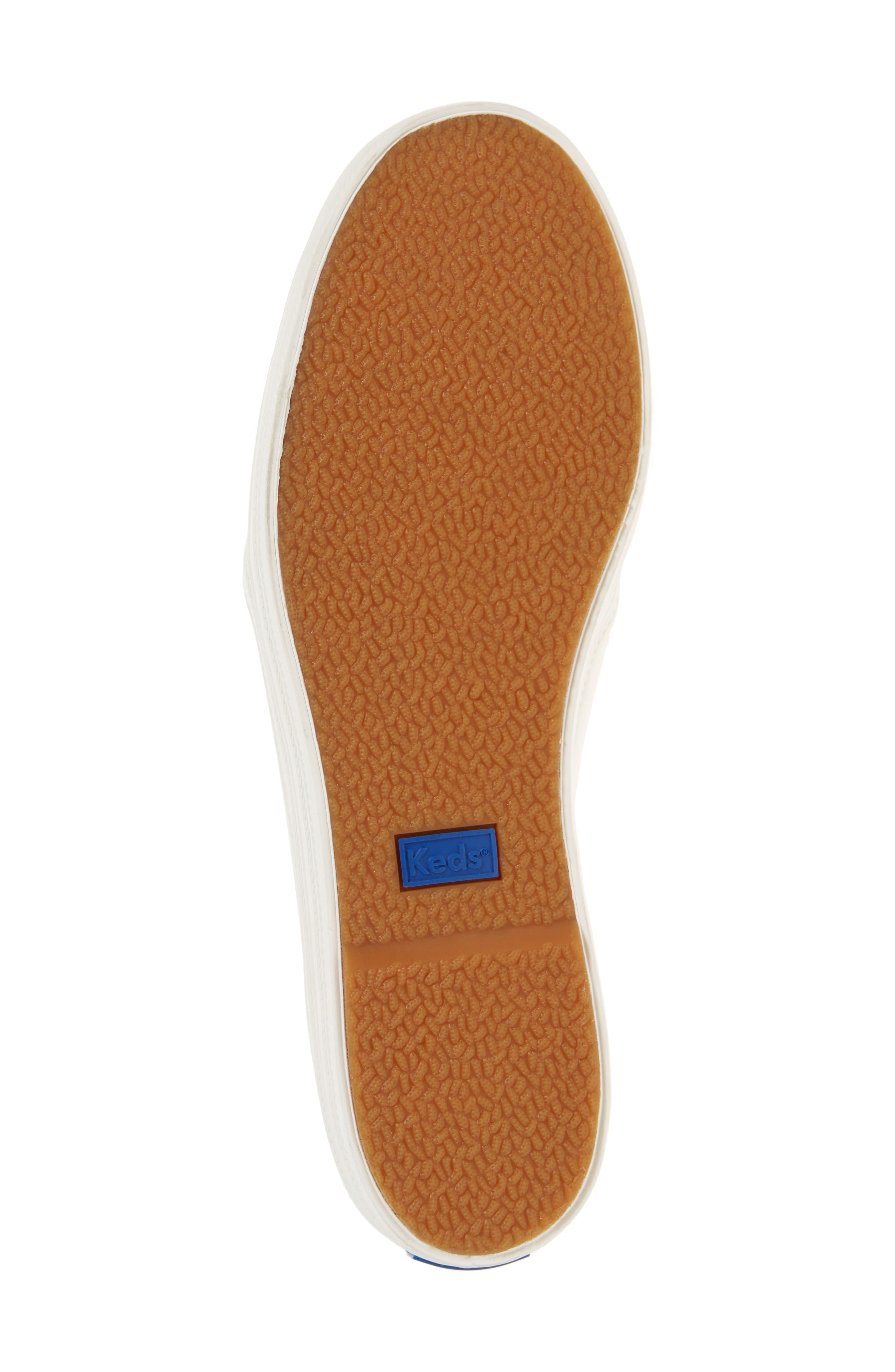 KEDS<SUP>®</SUP> FOR KATE SPADE NEW YORK, triple decker embellished slip-on sneaker, Alternate thumbnail 6, color, CREAM