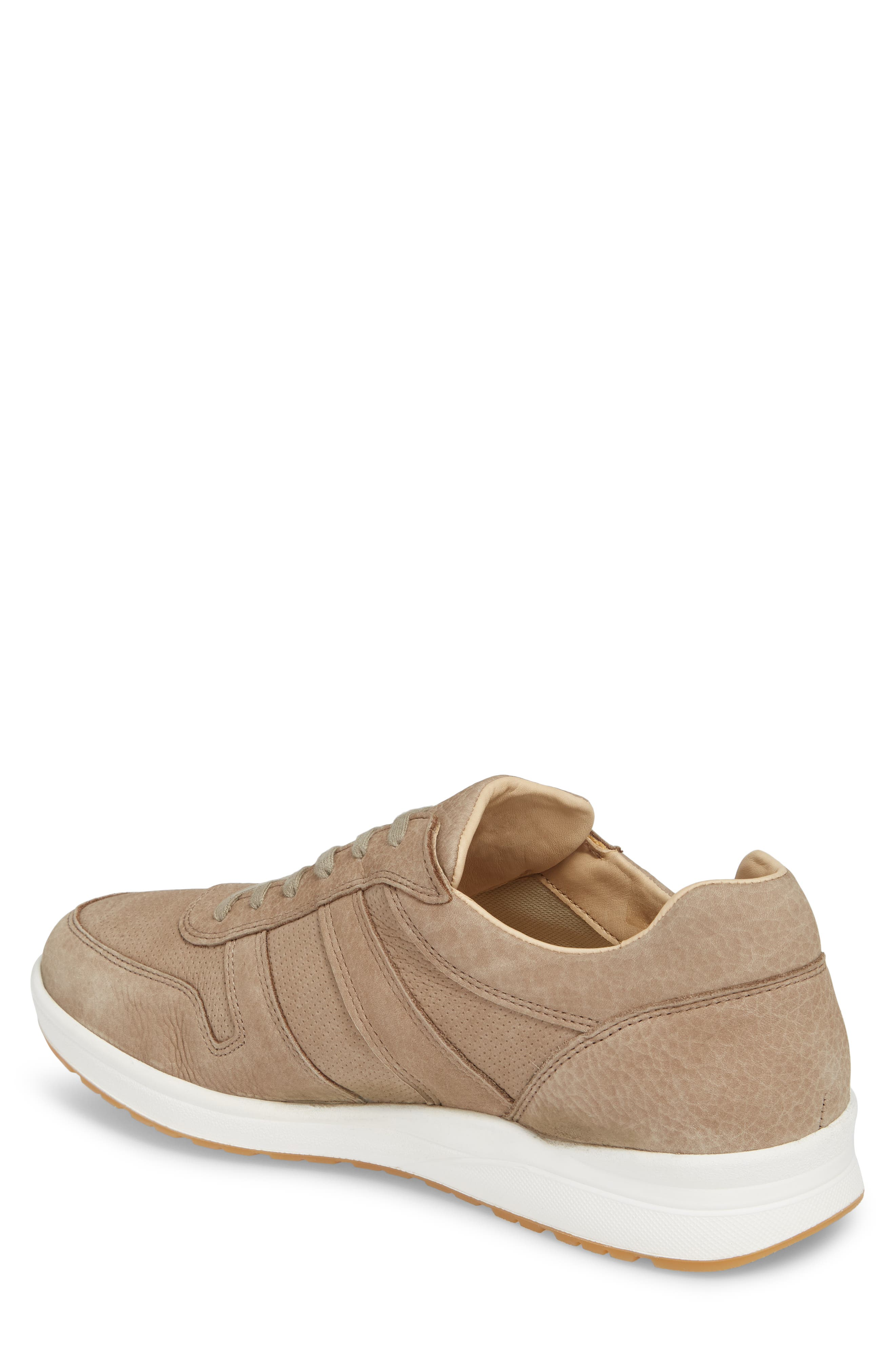 MEPHISTO, Vito Perforated Sneaker, Alternate thumbnail 2, color, SAND