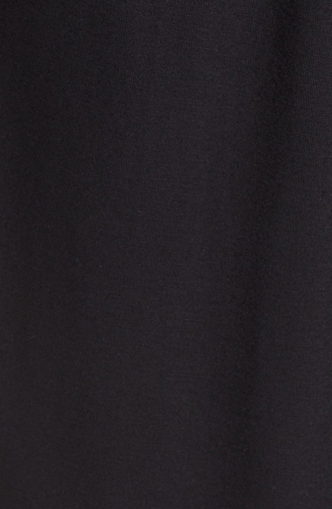 HONEYDEW INTIMATES, All American Jersey Robe, Alternate thumbnail 6, color, BLACK