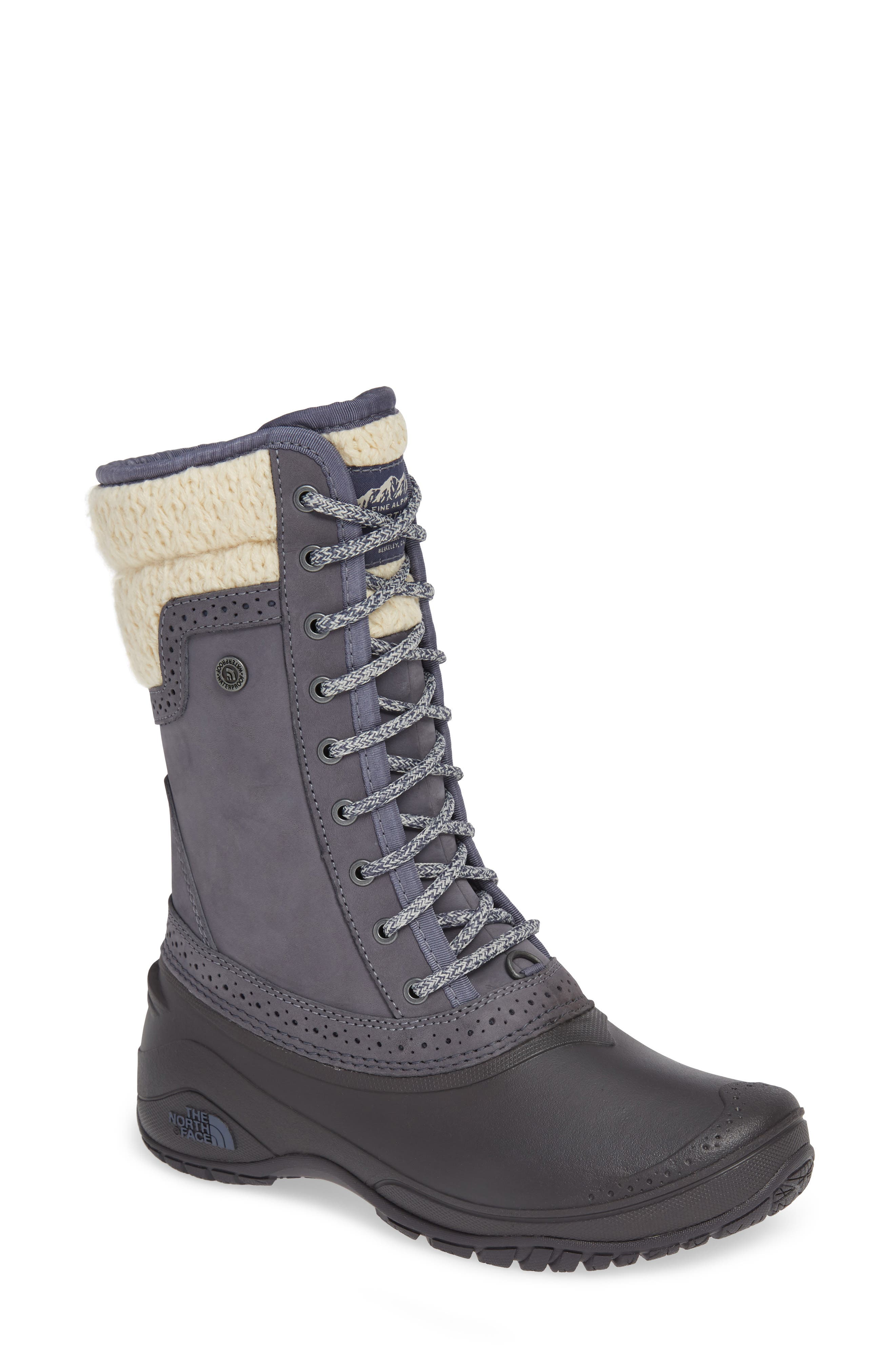 THE NORTH FACE, Shellista Waterproof Insulated Snow Boot, Main thumbnail 1, color, GRISAILLE GREY/ VINTAGE WHITE