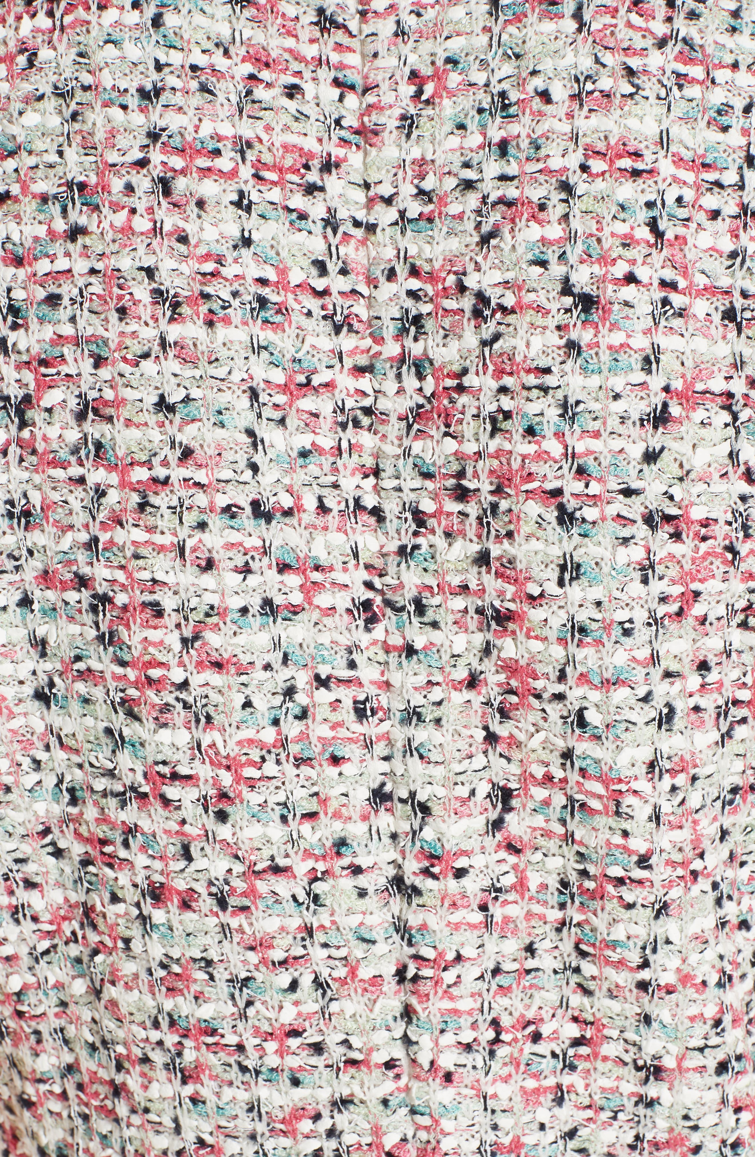 ST. JOHN COLLECTION, Modern Knit Dress, Alternate thumbnail 6, color, CREAM MULTI