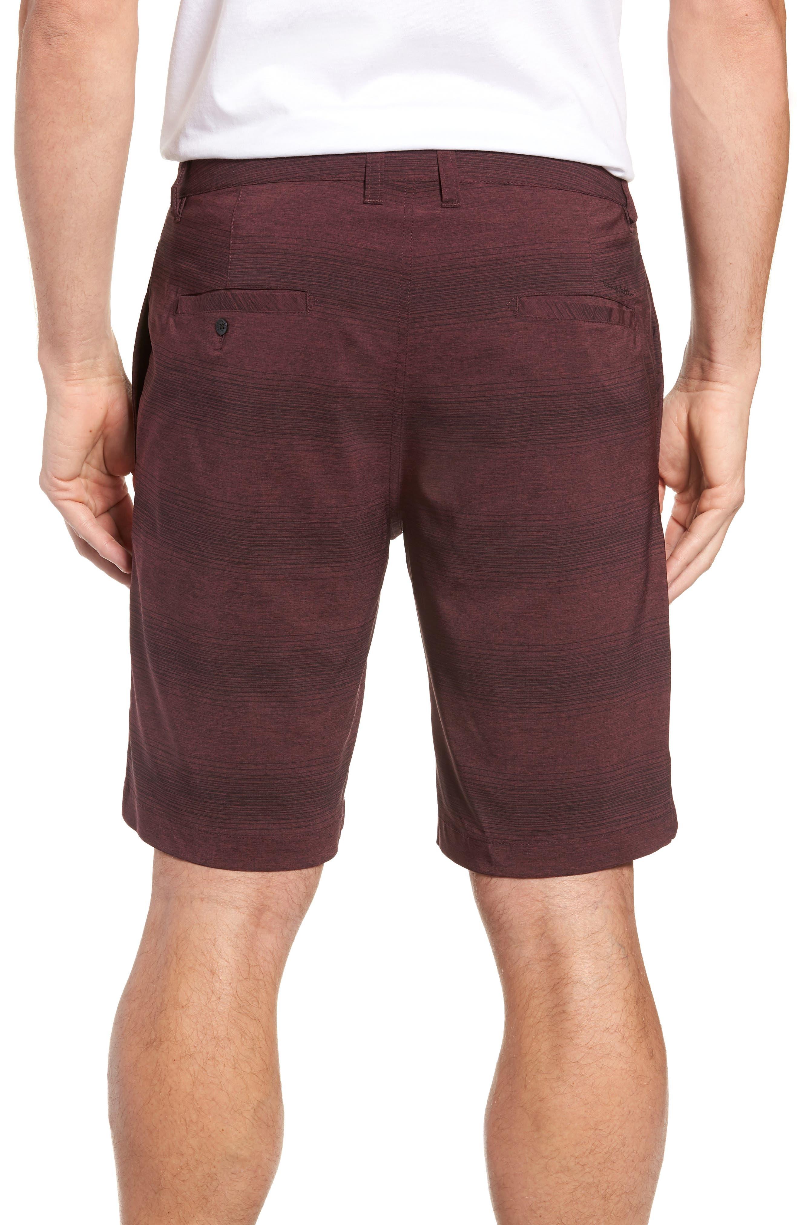 TRAVISMATHEW, Tepic Shorts, Alternate thumbnail 2, color, WINETASTING/ BLACK