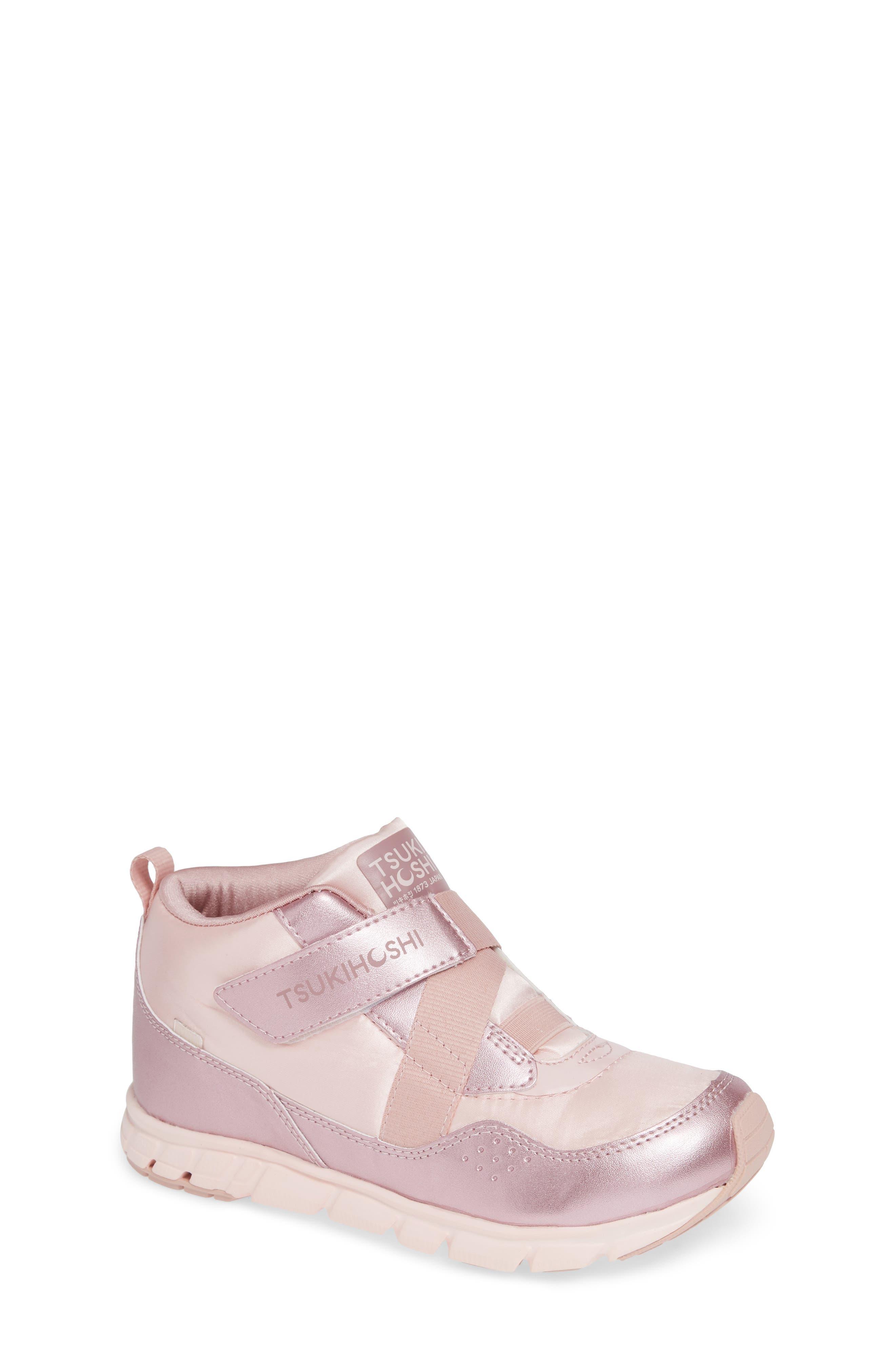 Kids Tsukihoshi Tokyo Waterproof Sneaker Size 4 M  Pink