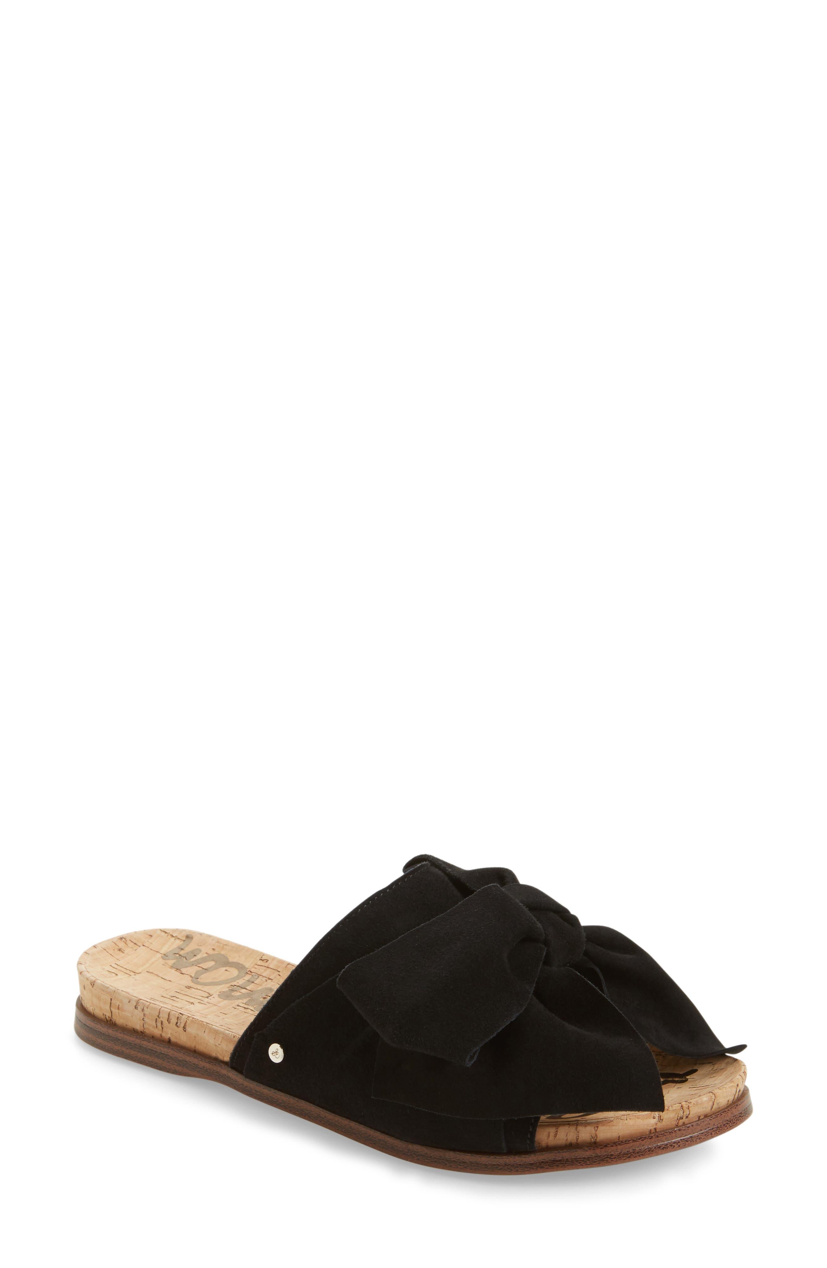 SAM EDELMAN Henna Slide Sandal, Main, color, 001