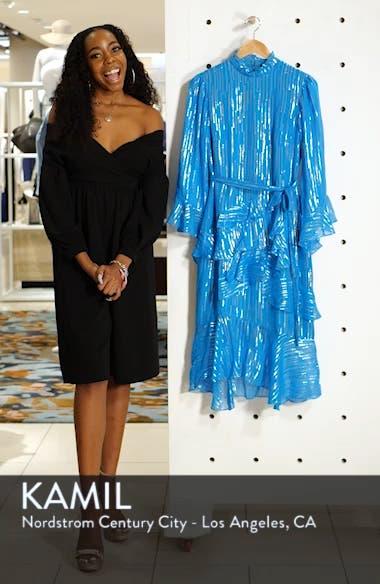 Marissa Metallic Ruffle Dress, sales video thumbnail