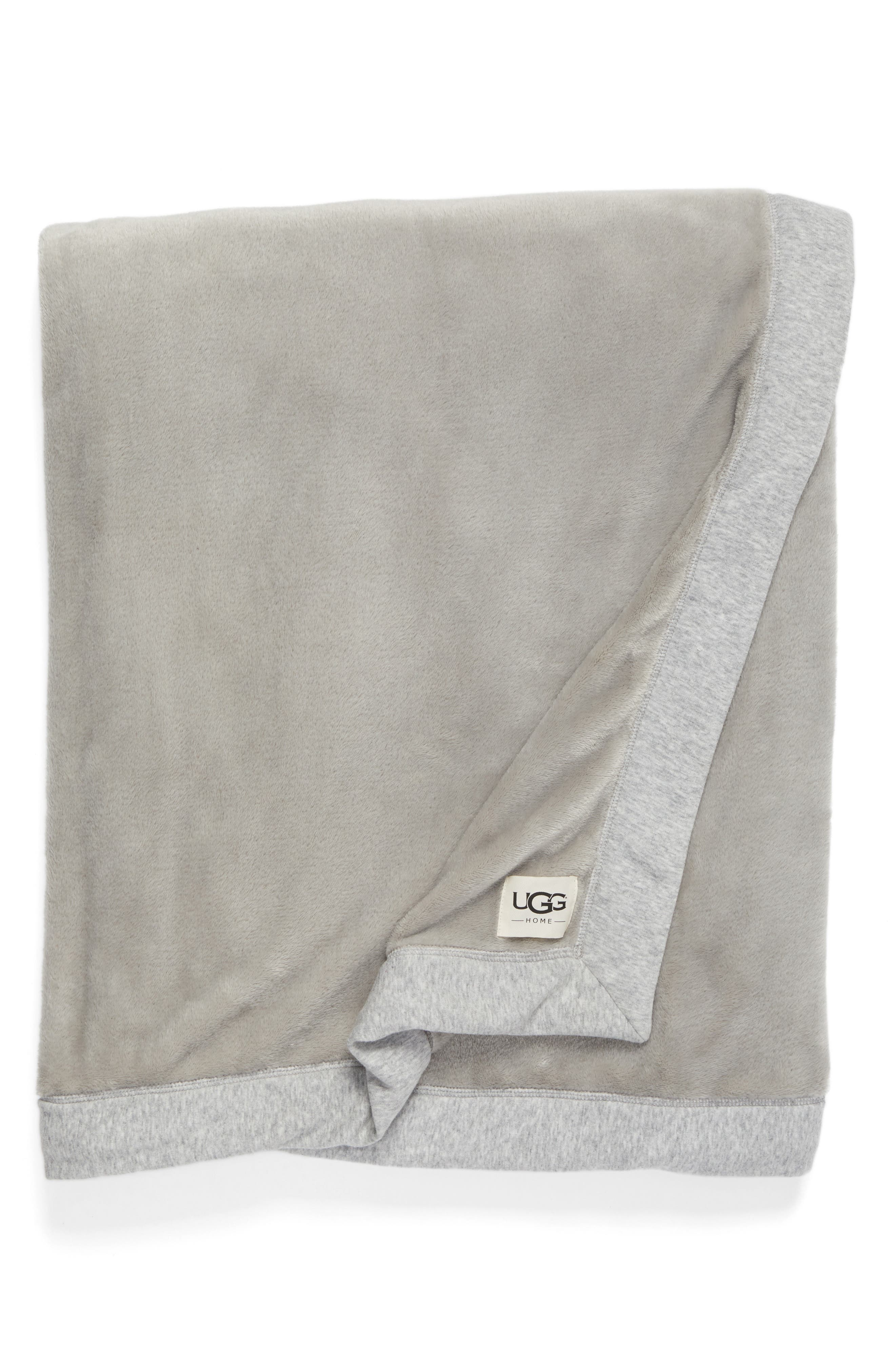 UGG<SUP>®</SUP> Duffield Throw, Main, color, SEAL HEATHER GREY