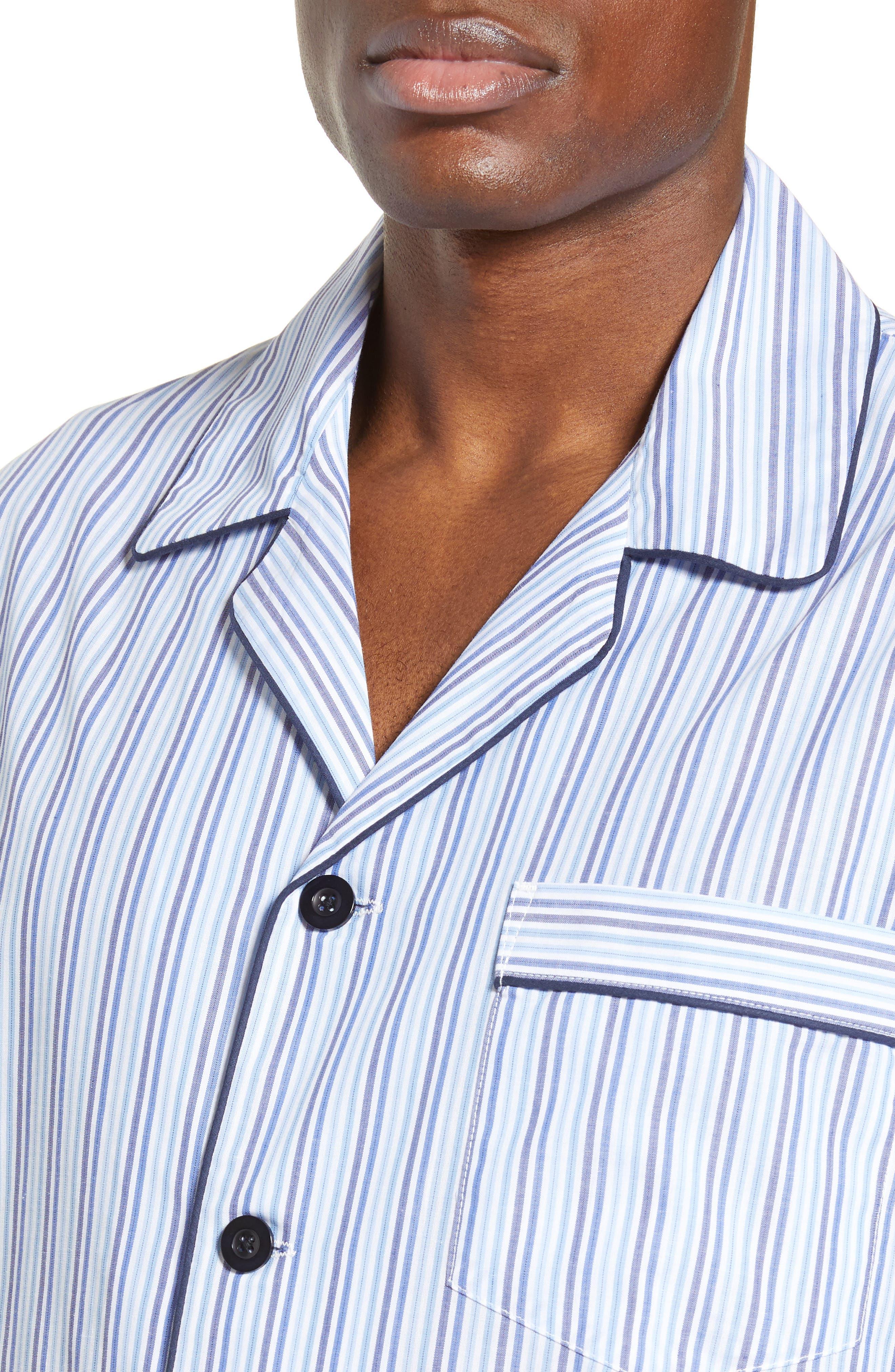 MAJESTIC INTERNATIONAL, Easy Care Pajamas, Alternate thumbnail 4, color, SKY BLUE