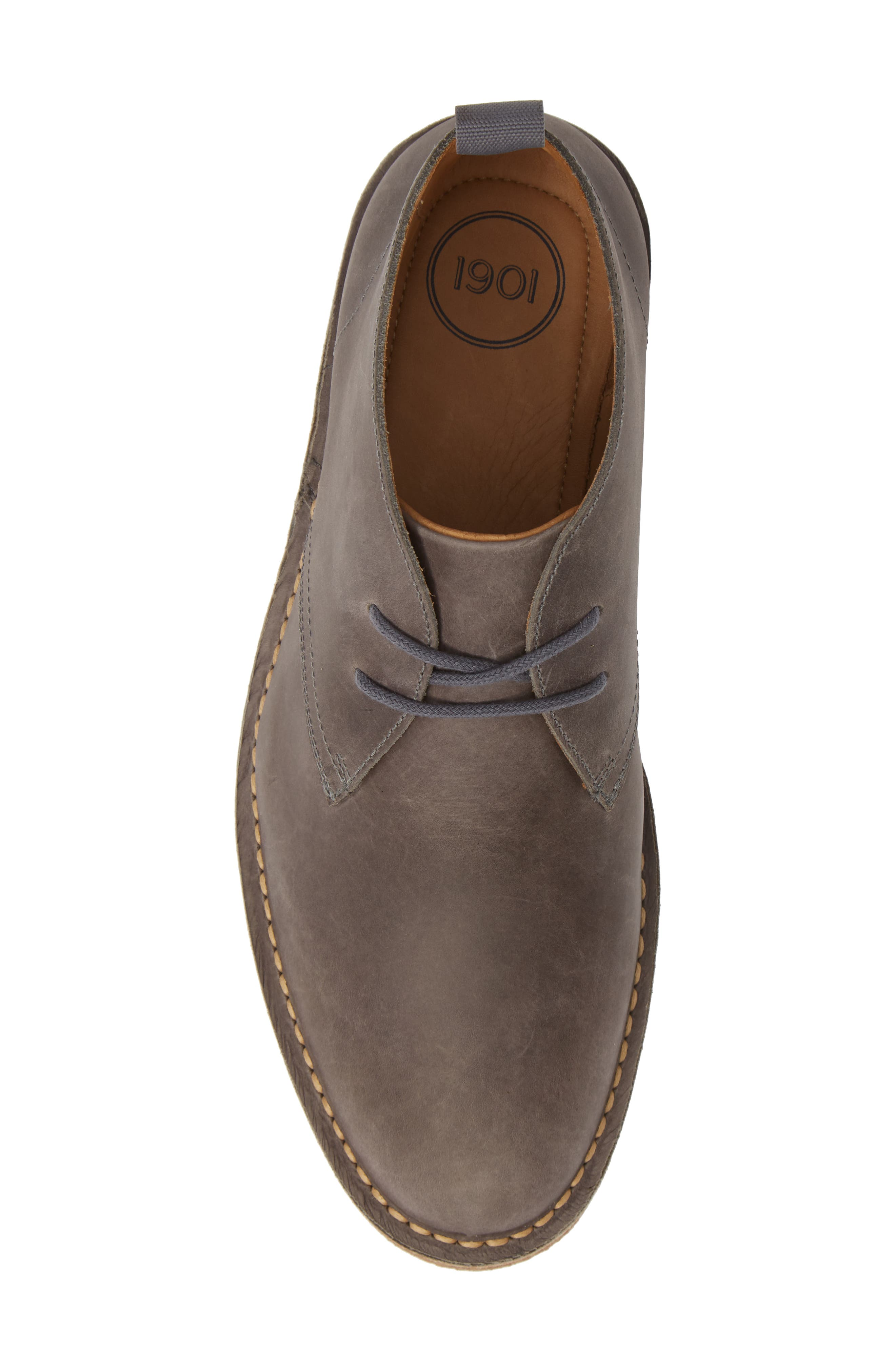 1901, Hudson Chukka Boot, Alternate thumbnail 5, color, GREY LEATHER