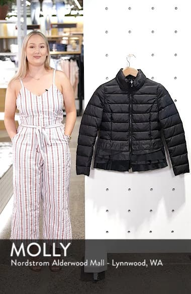Zoey Ruffle Hem Puffer Jacket, sales video thumbnail
