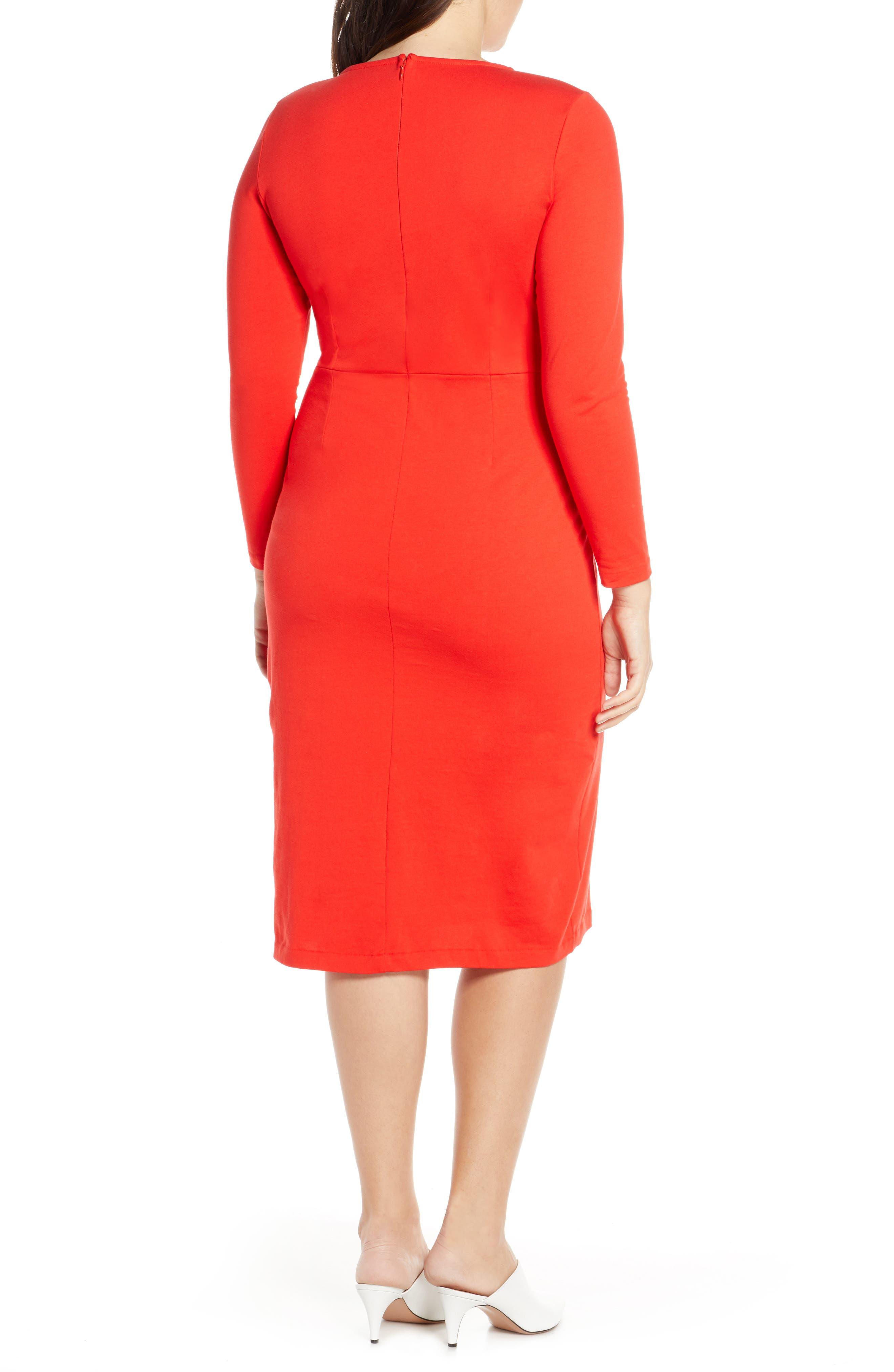 J.CREW, Knit Sheath Dress, Alternate thumbnail 10, color, BRIGHT CERISE