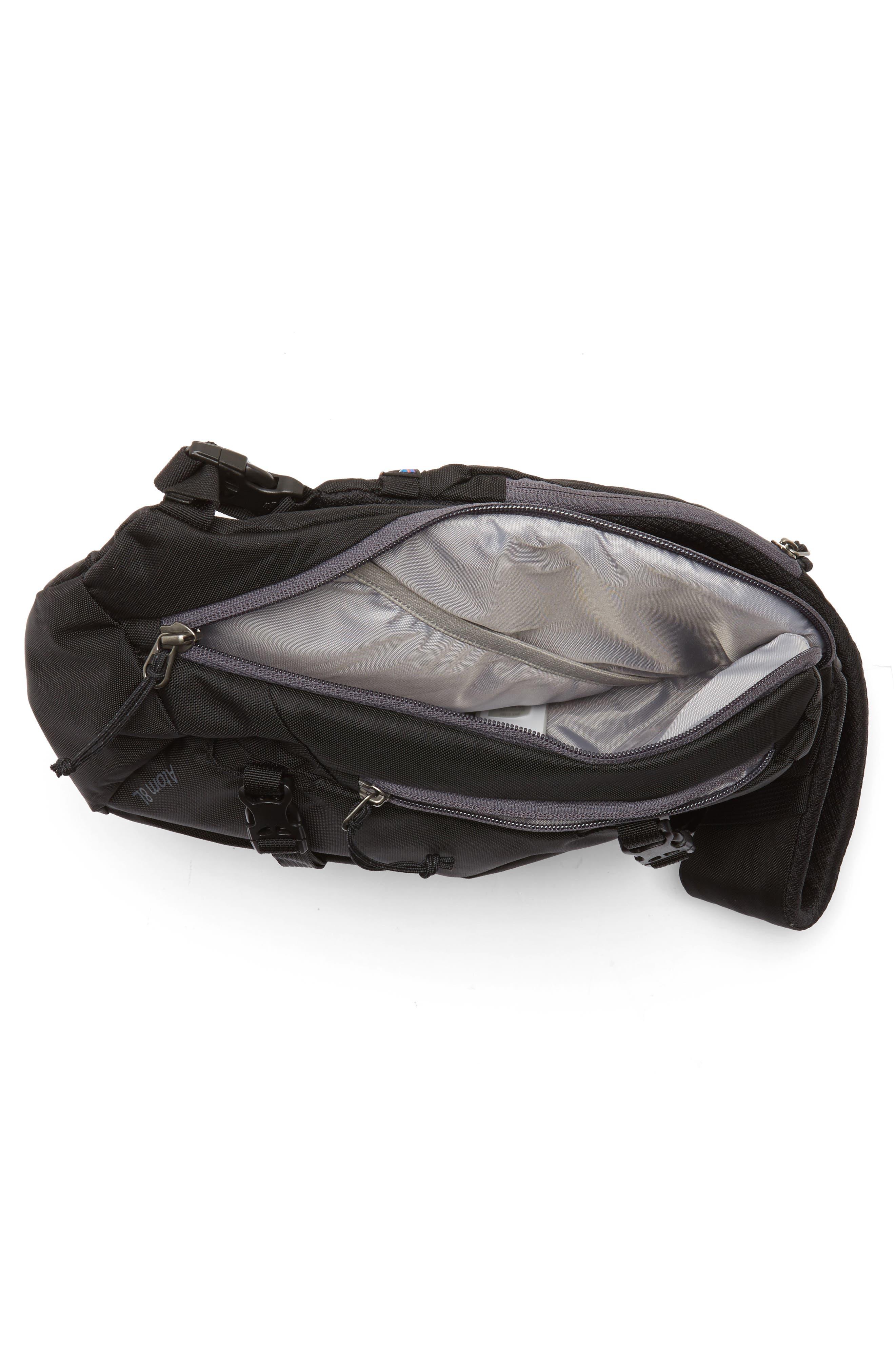 PATAGONIA, Atom 8L Sling Backpack, Alternate thumbnail 5, color, BLACK